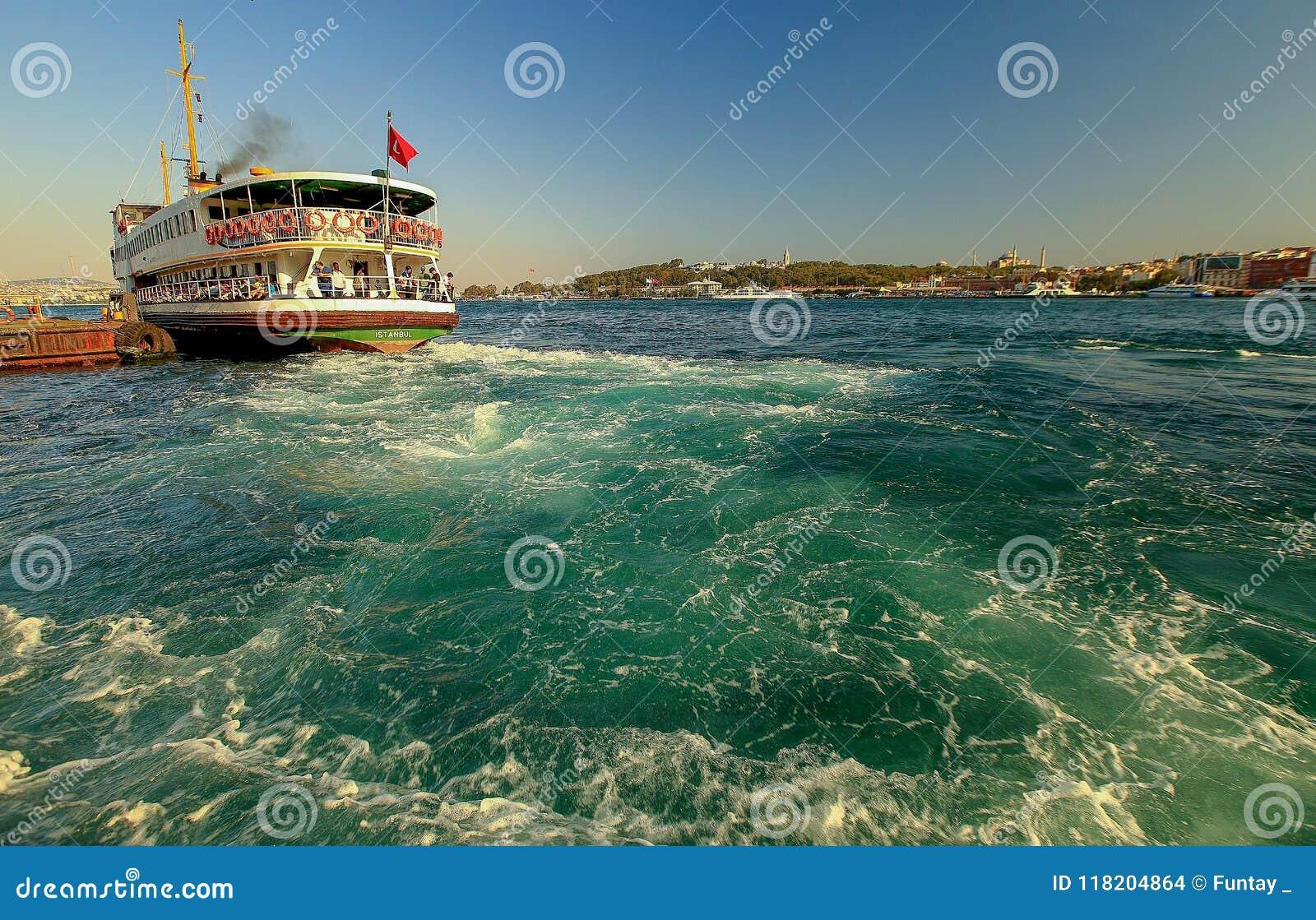 Landscape Karakoy pier of Istanbul