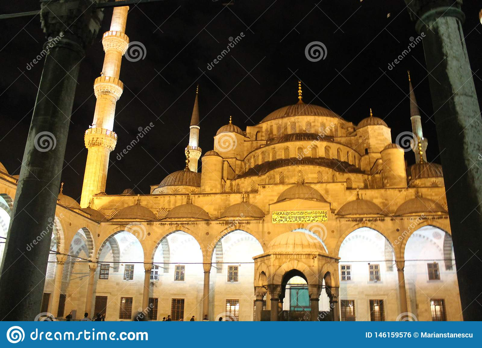 Istanbul - Blue Mosque by night