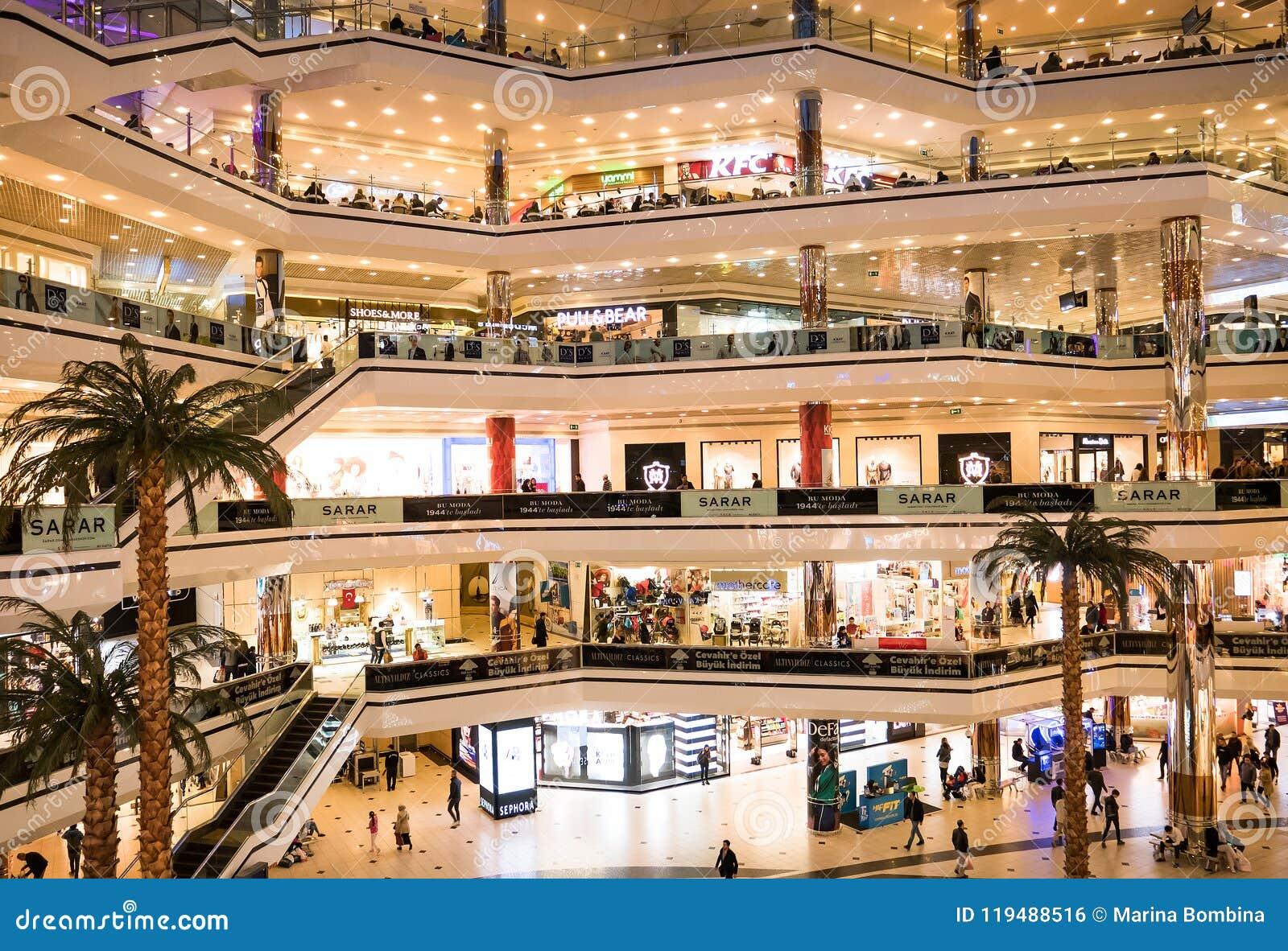 Istanbul Cevahir shopping och underhållningmitt, Turkiet