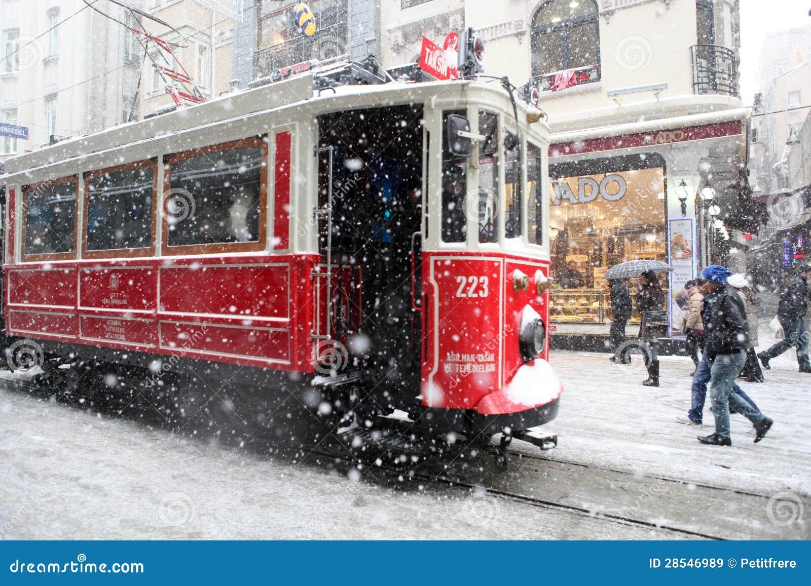 Istanbul an einem schneebedeckten Tag