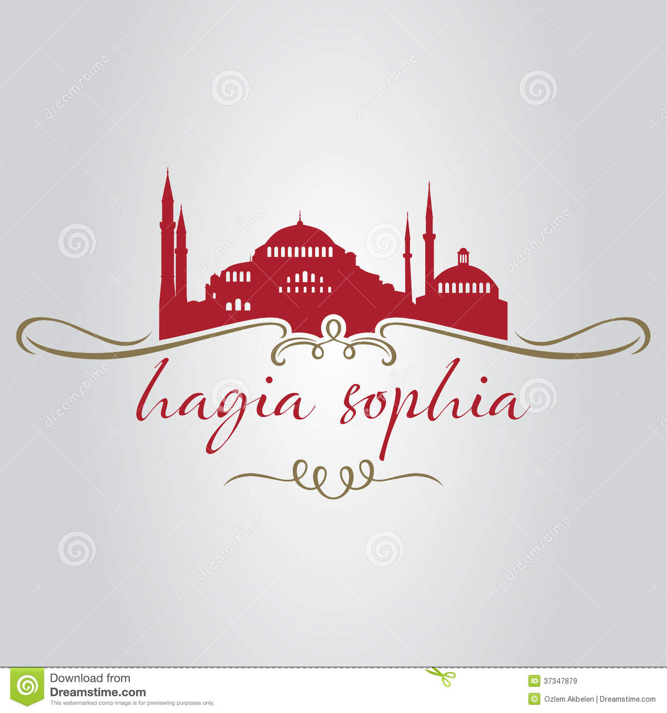 Download Istanbul hagiasophia vektor illustrationer. Illustration av stad - 37347879