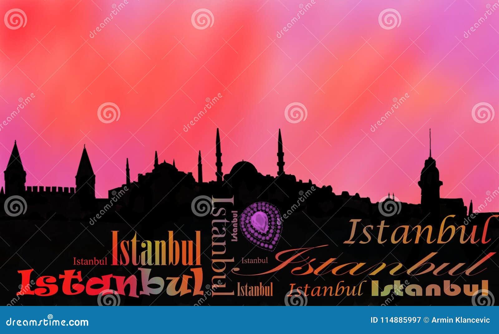 Istanbul huvudstadssolnedgång