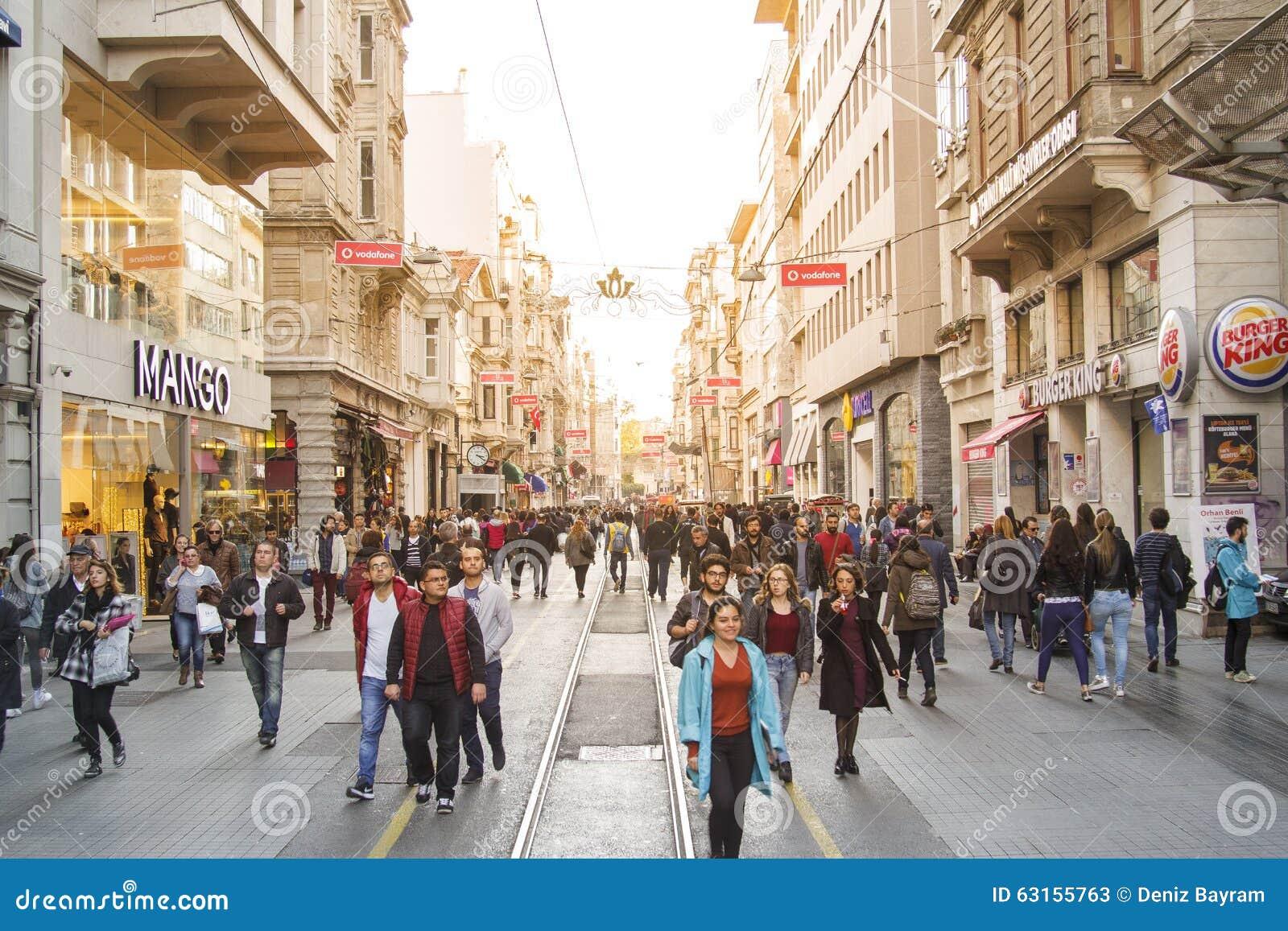 Beyoglu Turkey  city photos gallery : istanbul istiklal street taksim beyoglu turkey november 63155763