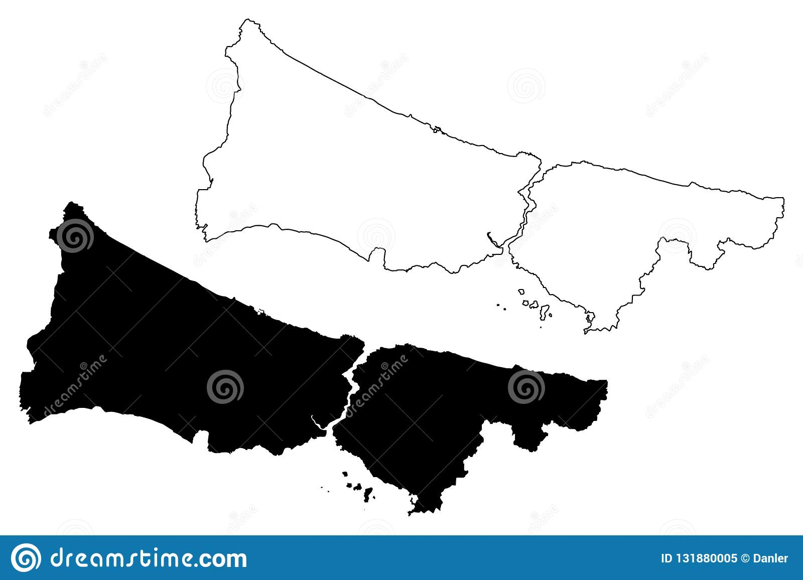 Istanbul map vector stock vector. Illustration of abstract ...