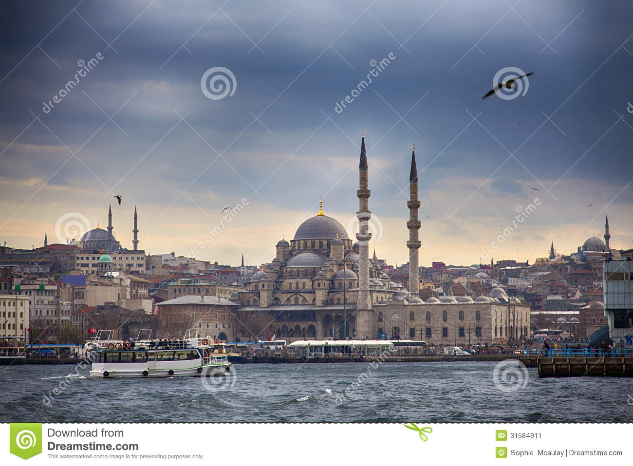 Non Muslim Perspective On The Revolution Of Imam Hussain: Istanbul Skyline Stock Image
