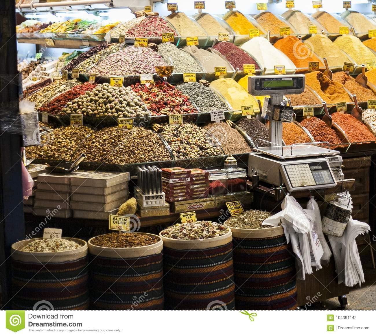 Istanbul souk, spices, Turkey experience
