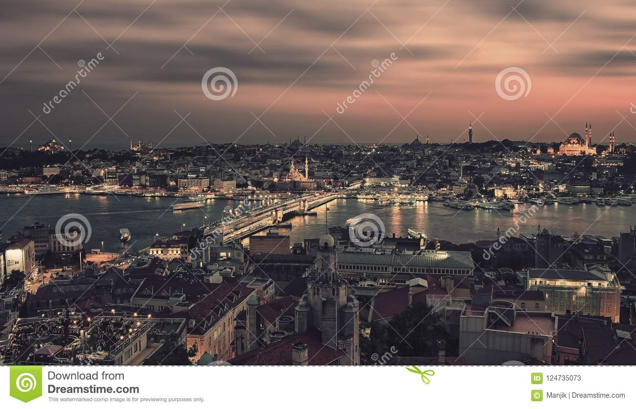 Istanbul stadsskymning