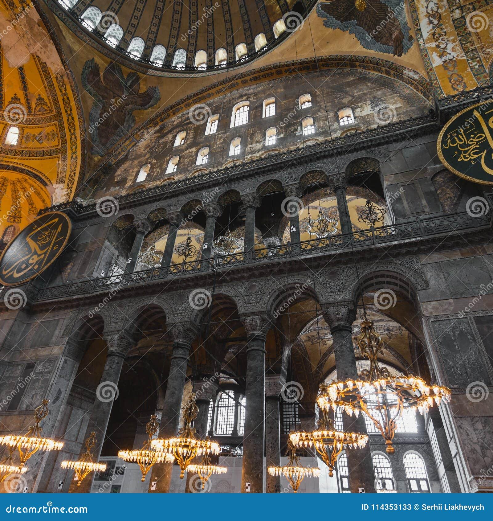 Hagia Sophia Interior At Istanbul Turkey - Architecture ...   Hagia Sophia Interior Columns