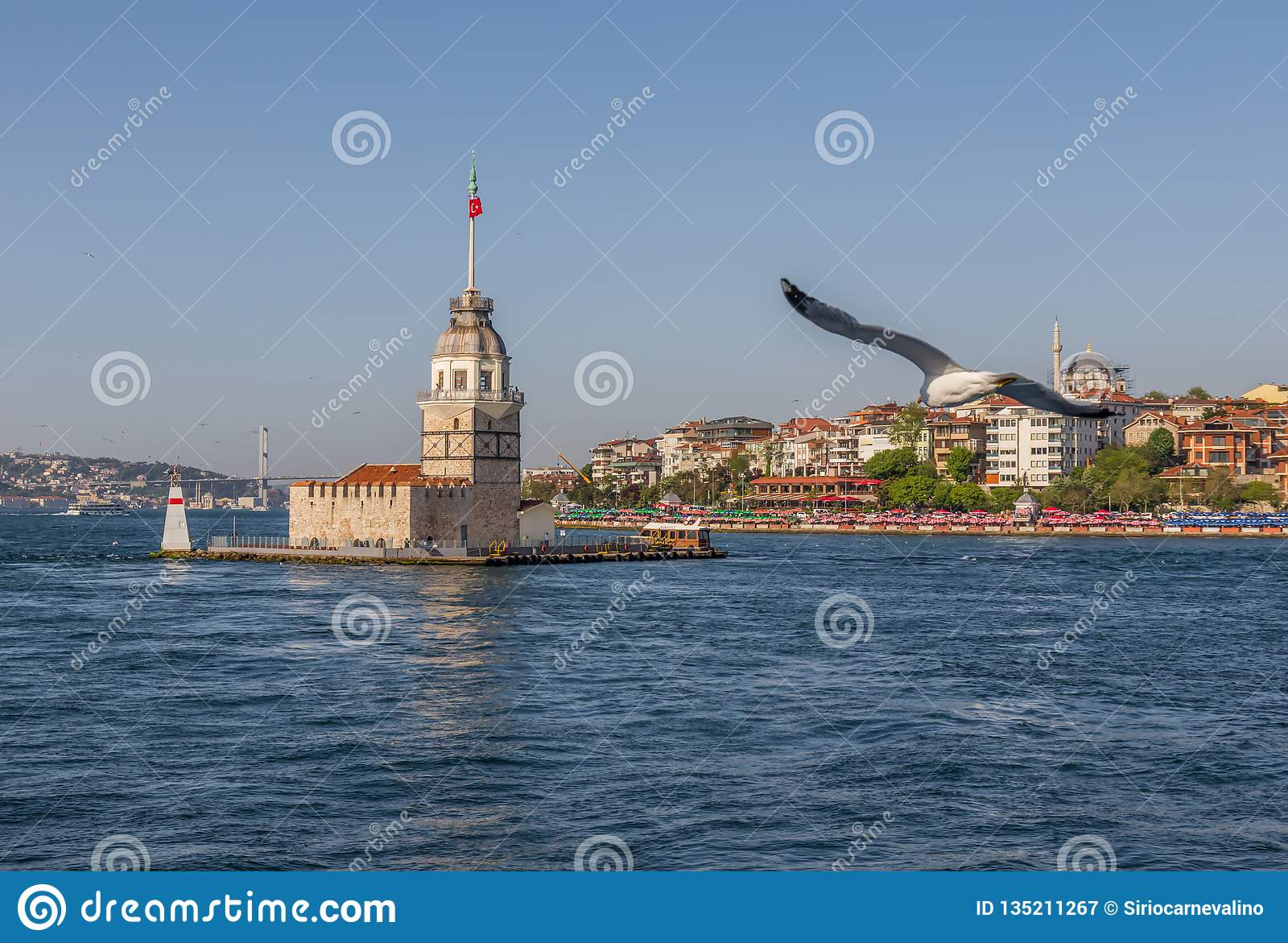 The Maiden`s Tower of Istanbul. Turkey