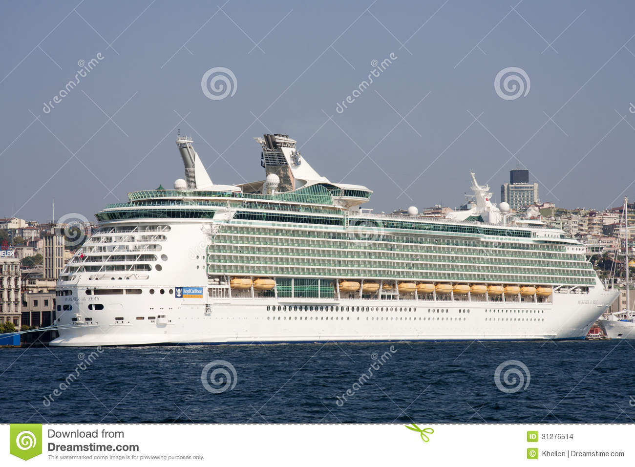ISTANBUL, TURKEY - OCT 8TH: The cruise ship Mariner of the Seas