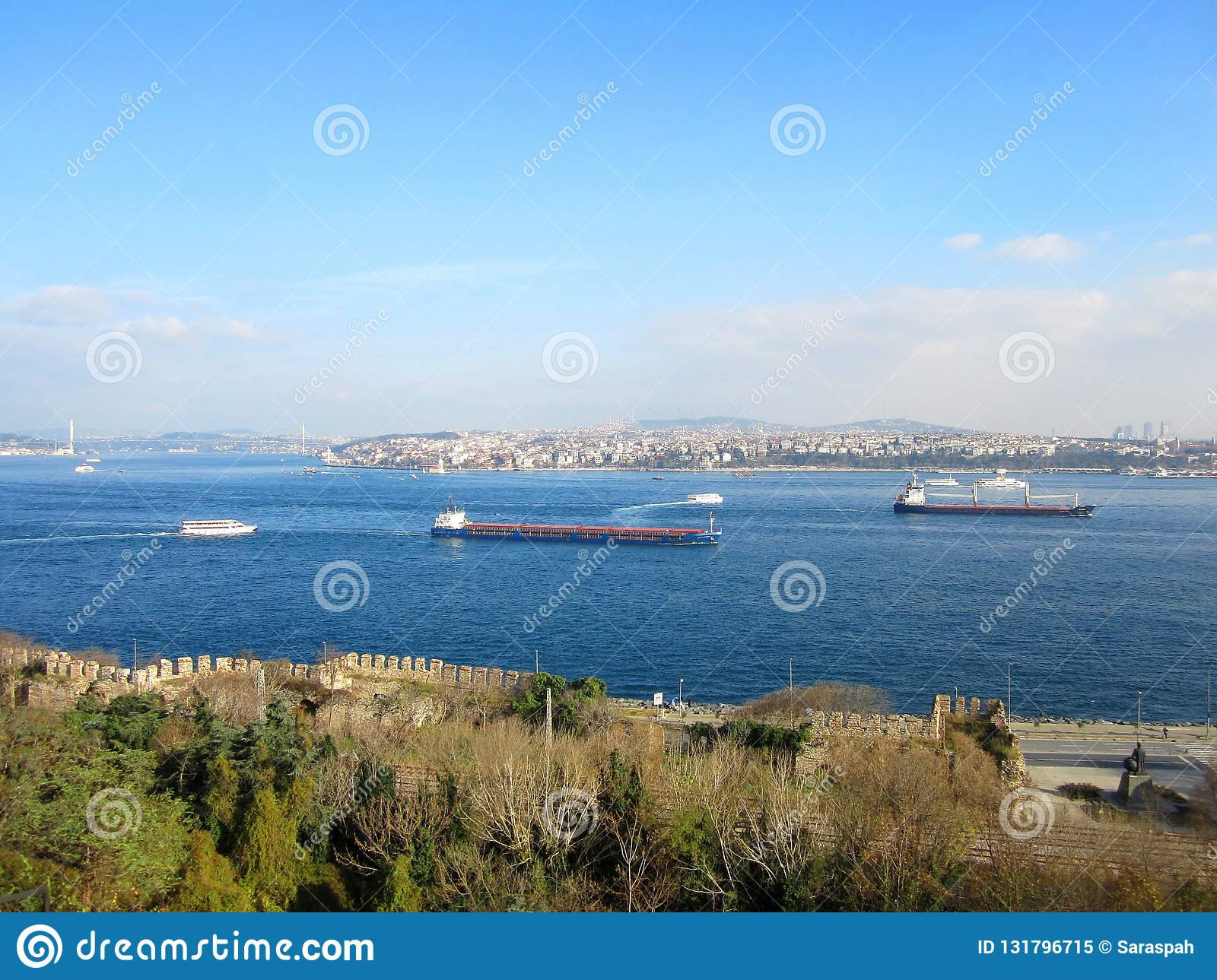 Istanbul view from Topkapi Palace