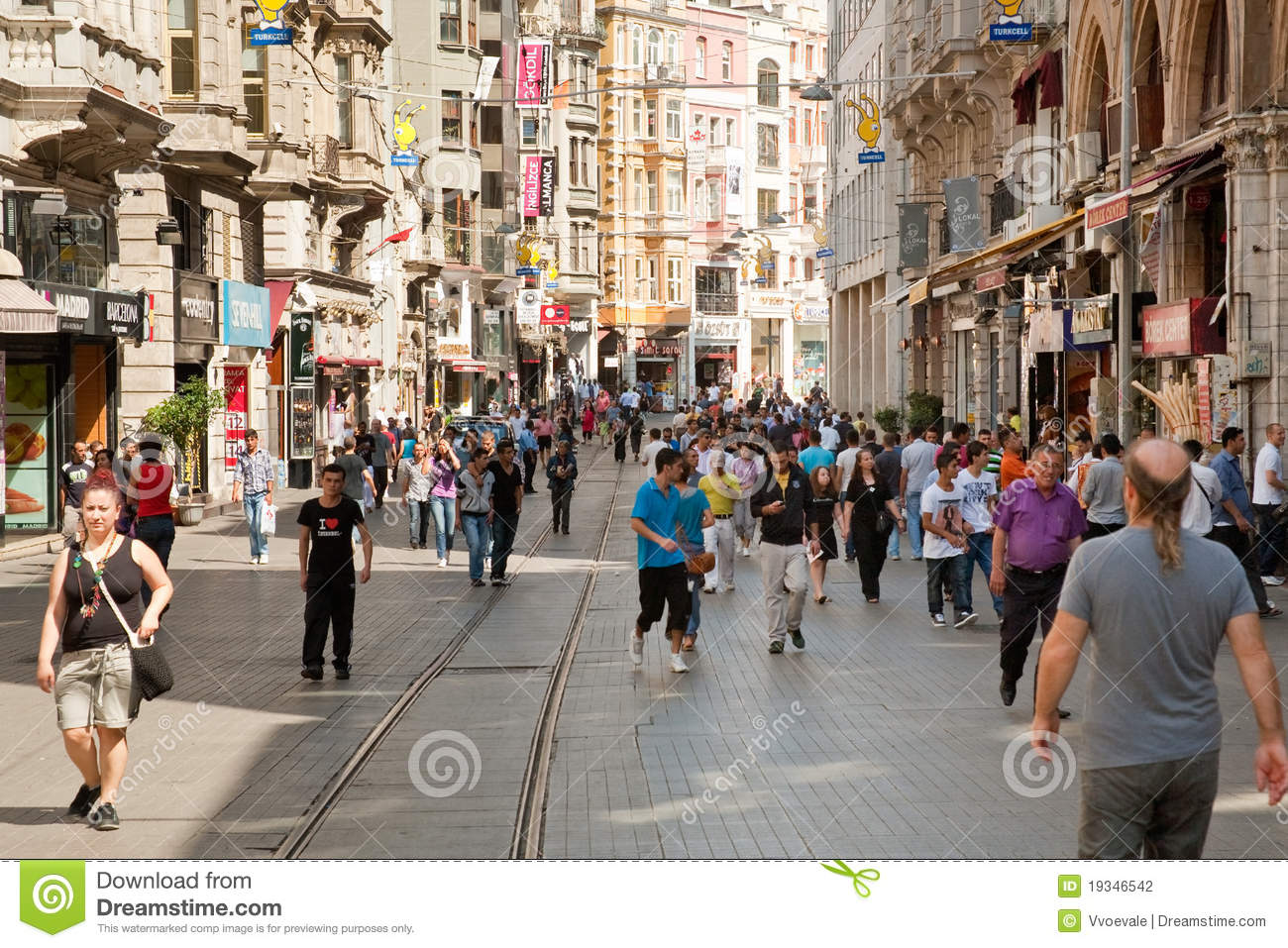 Istiklal Avenue In Istanbul, Turkey Editorial Photography ...