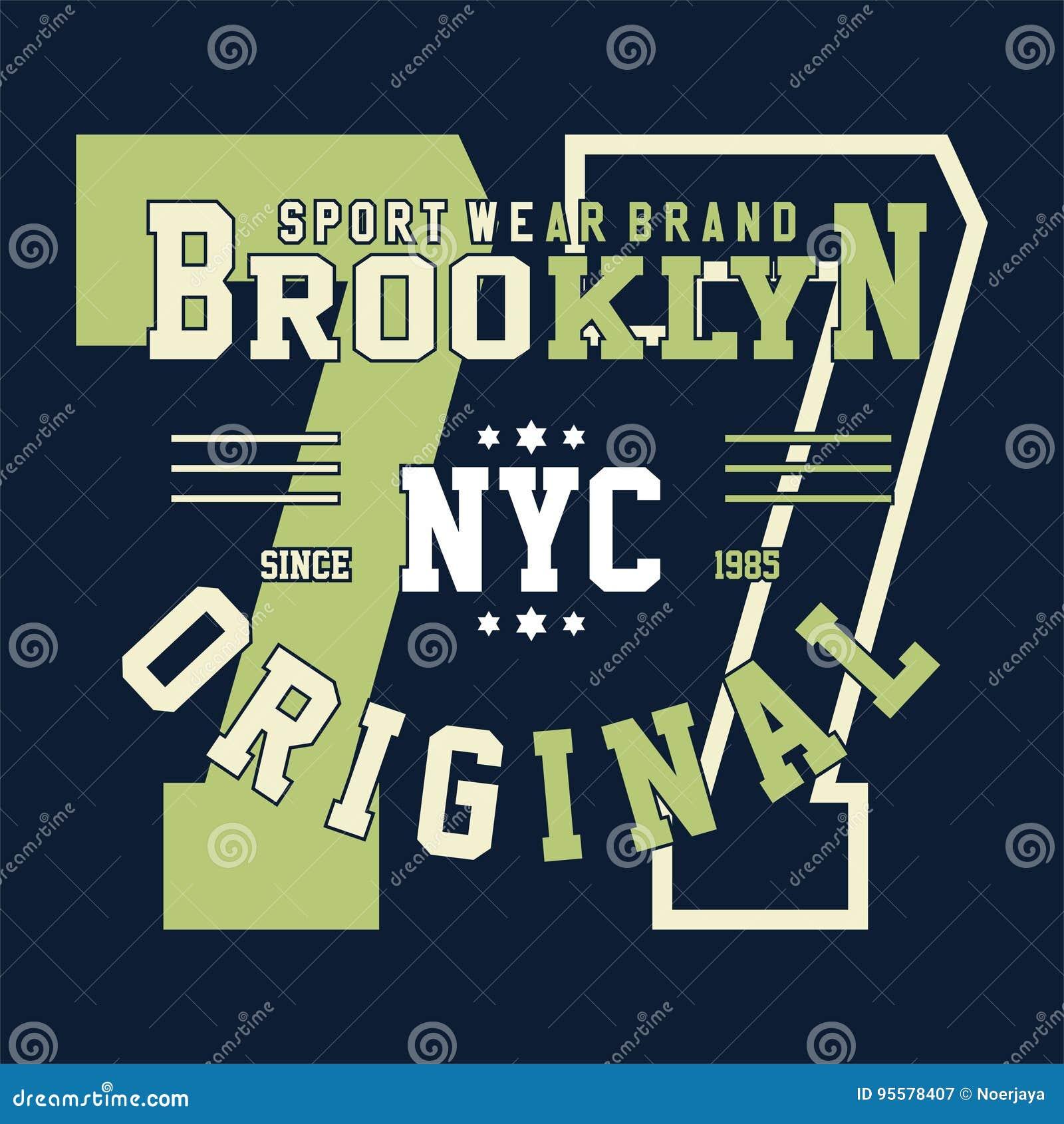 Istituto universitario Brooklyn di alfabeto e di numeri di progettazione