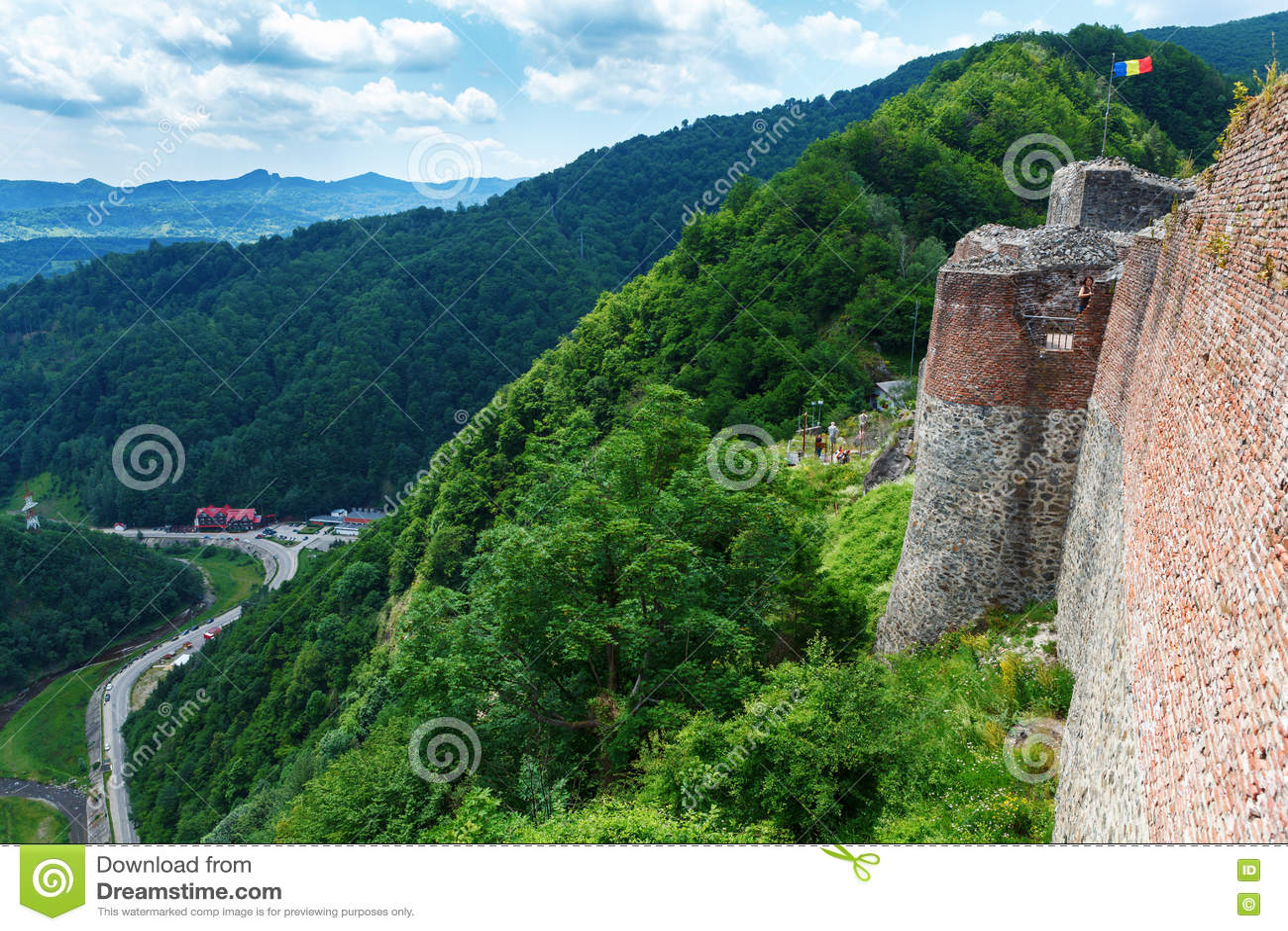 Istny Dracula kasztel & x28; Poenari Castle& x29; , Transilvania, Rumunia