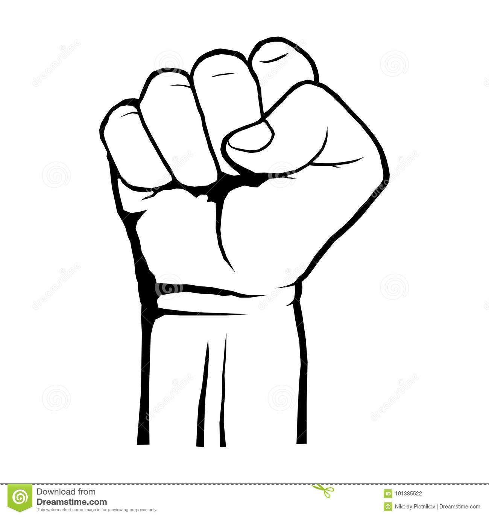Istota Ludzka Zaciskał Pięść Protest Buntowniczy Rewolucja