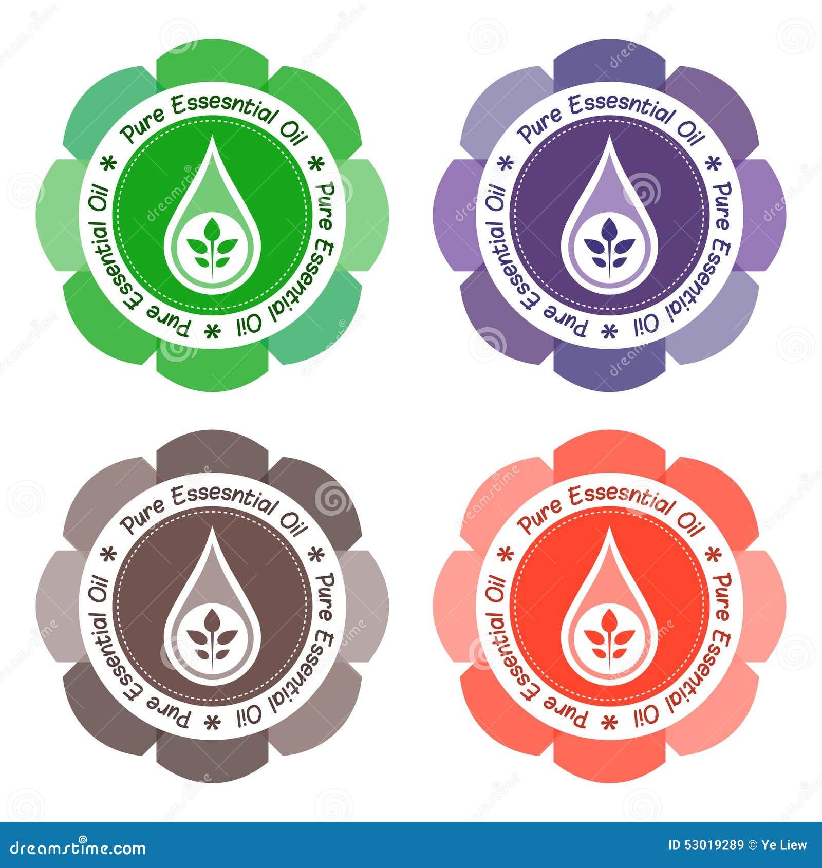 Istotnego oleju etykietka