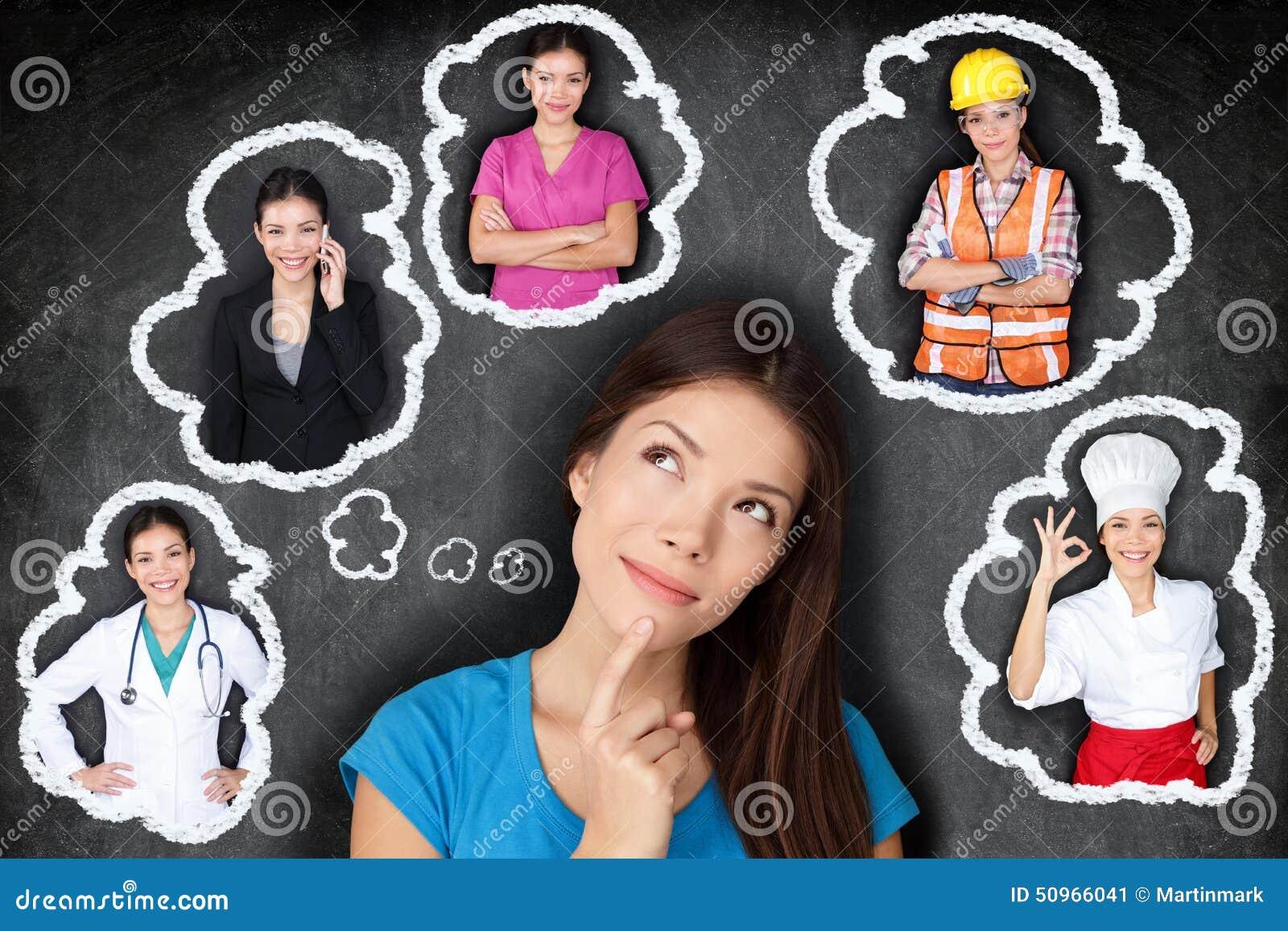 Istruzione e carriera - studente che pensa al futuro