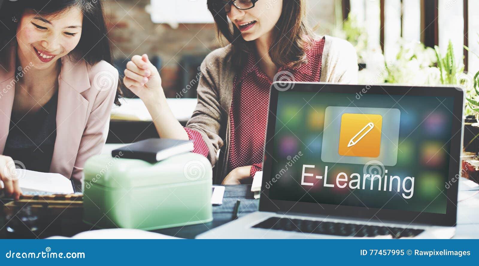 Istruzione online dell icona della matita che impara concetto grafico