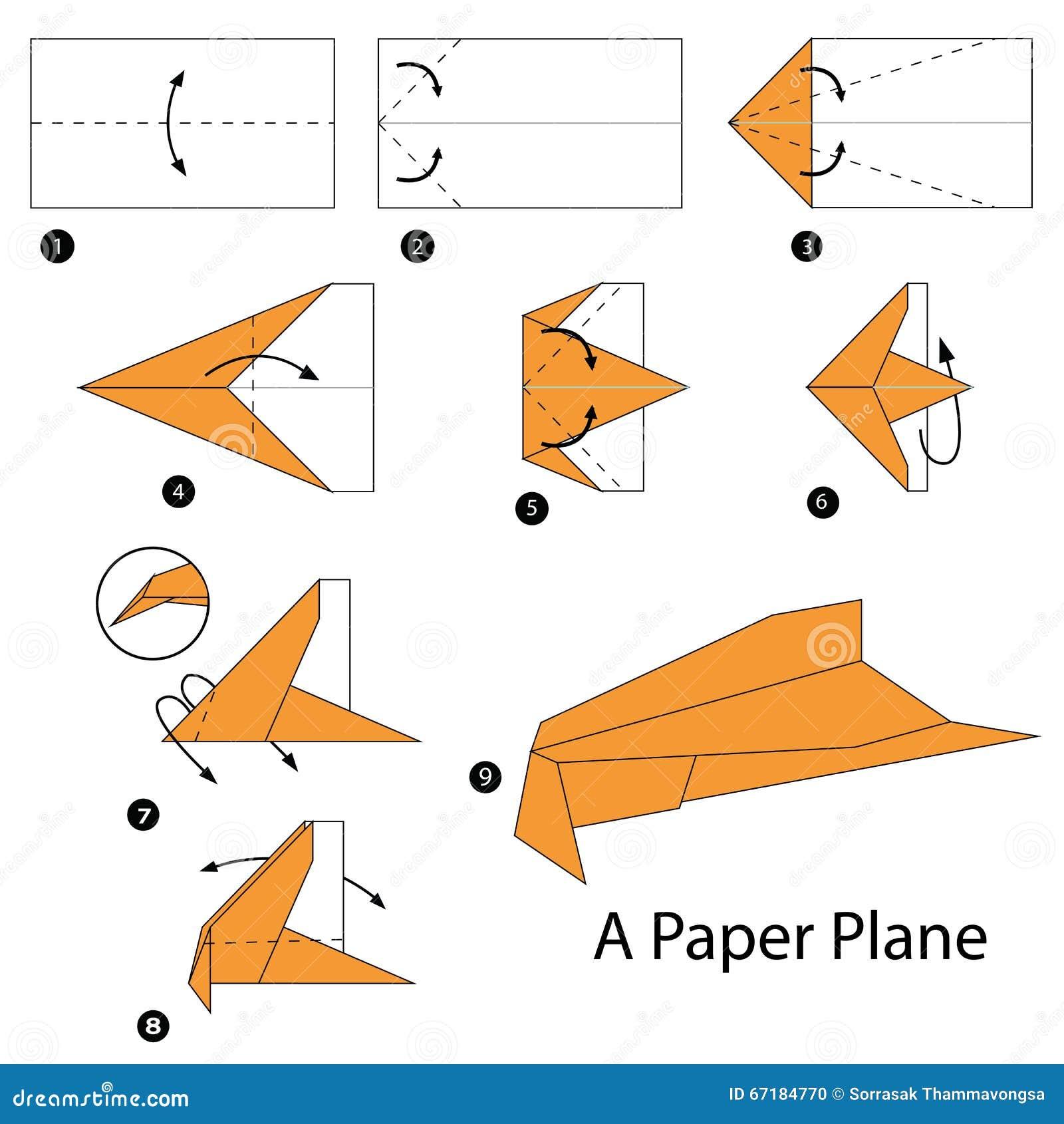 Istruzioni Graduali Come Rendere Ad Origami Un Aereo