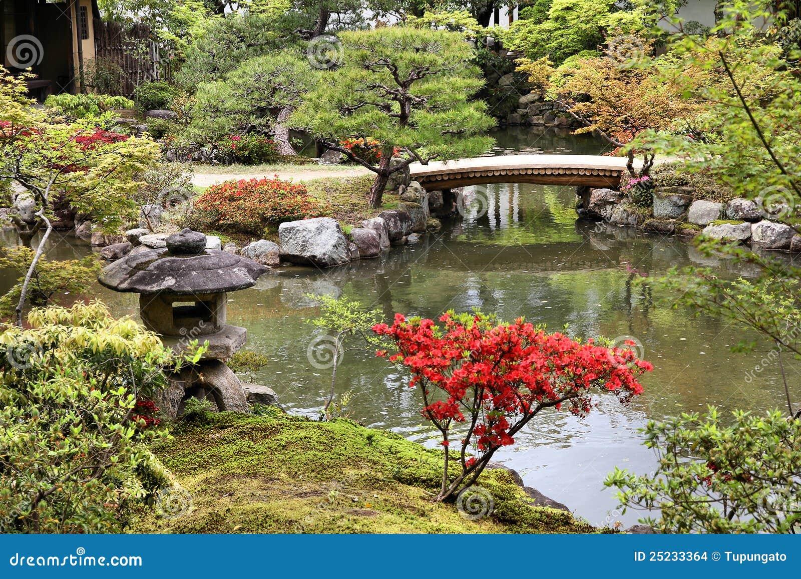 Isuien Garden, Nara Stock Images - Image: 25233364