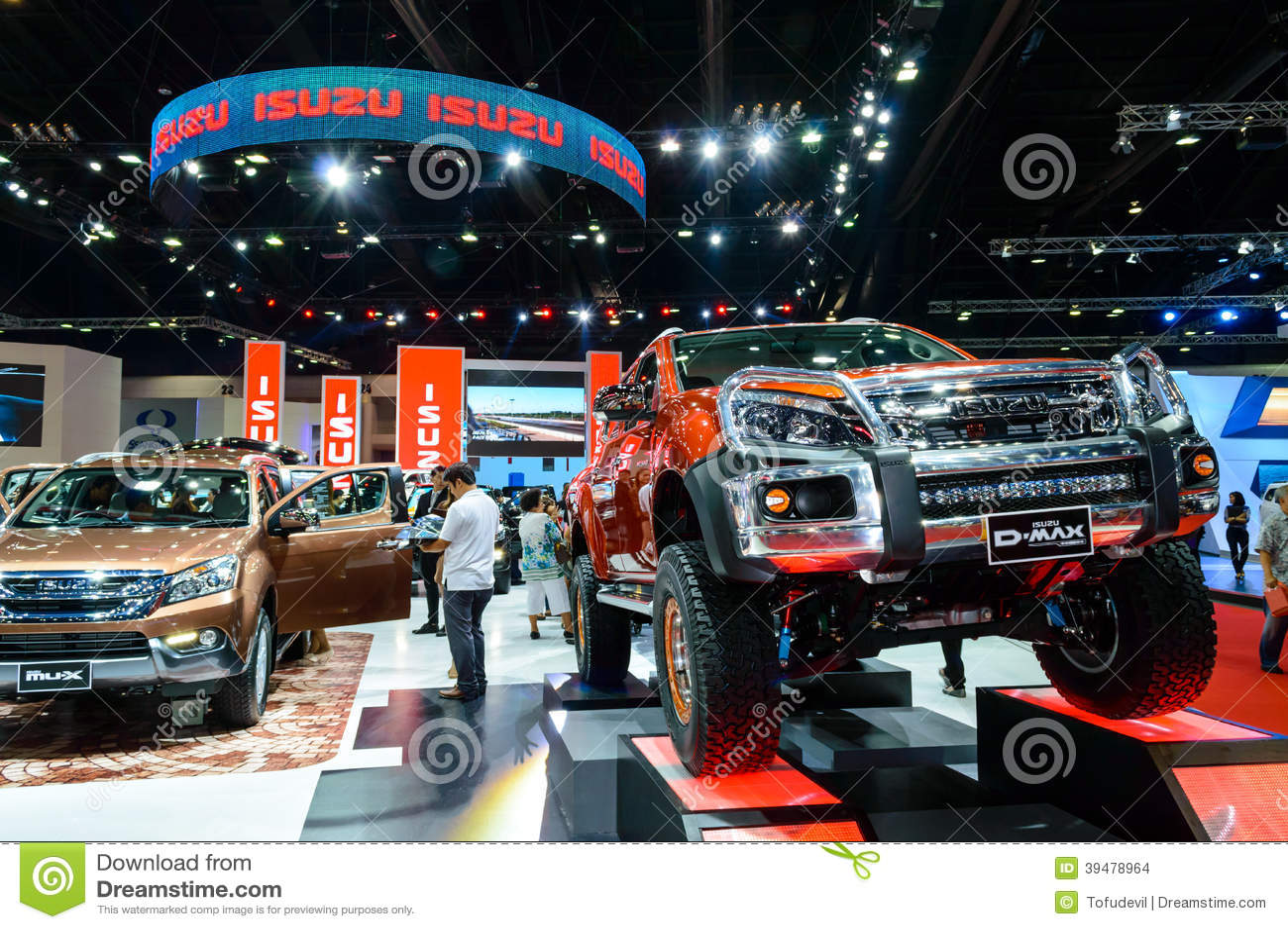 D Exhibition Bangkok : Isuzu d max editorial stock image of