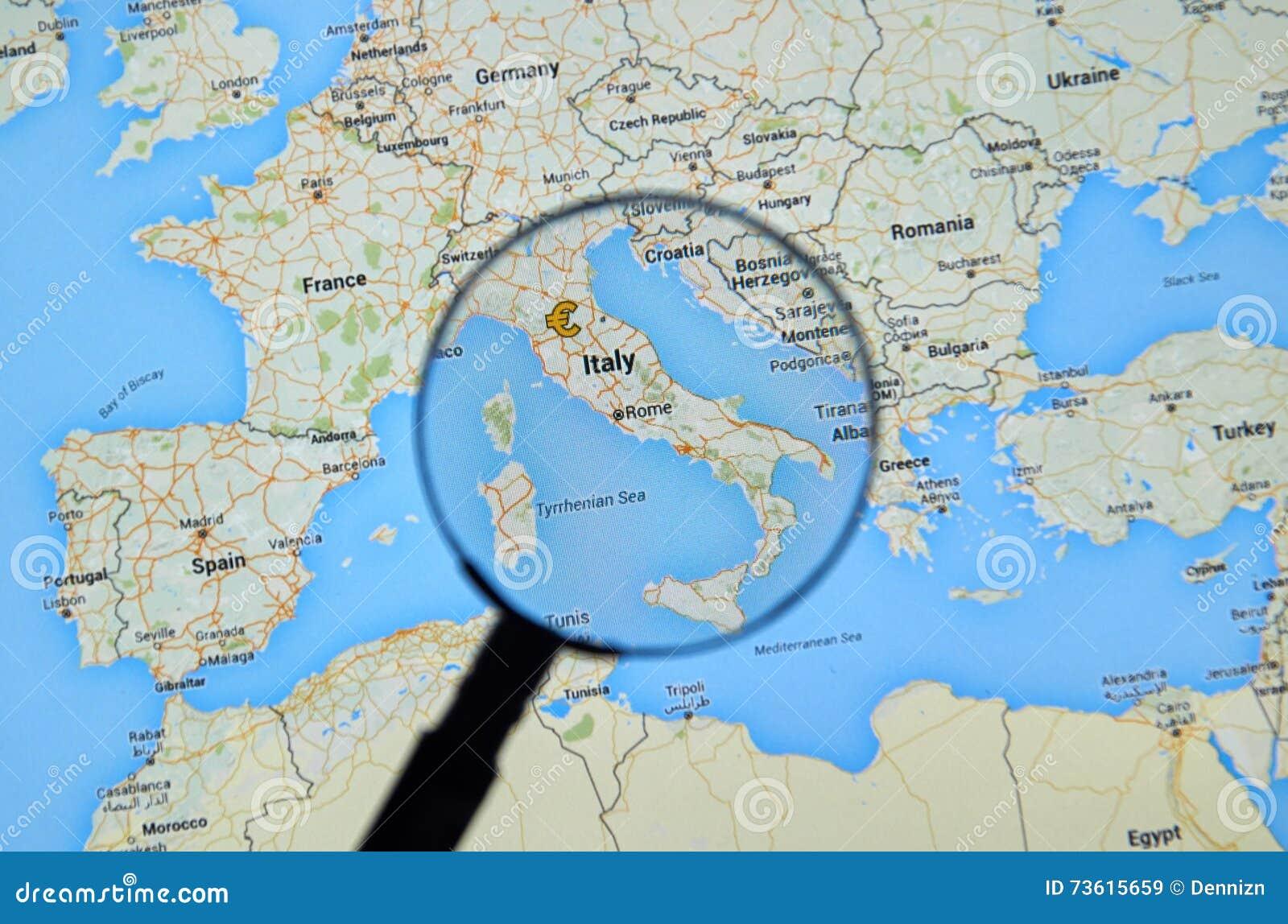 Cartina Italia Google Maps.Italia Em Google Maps Imagem De Stock Editorial Imagem De Internet 73615659