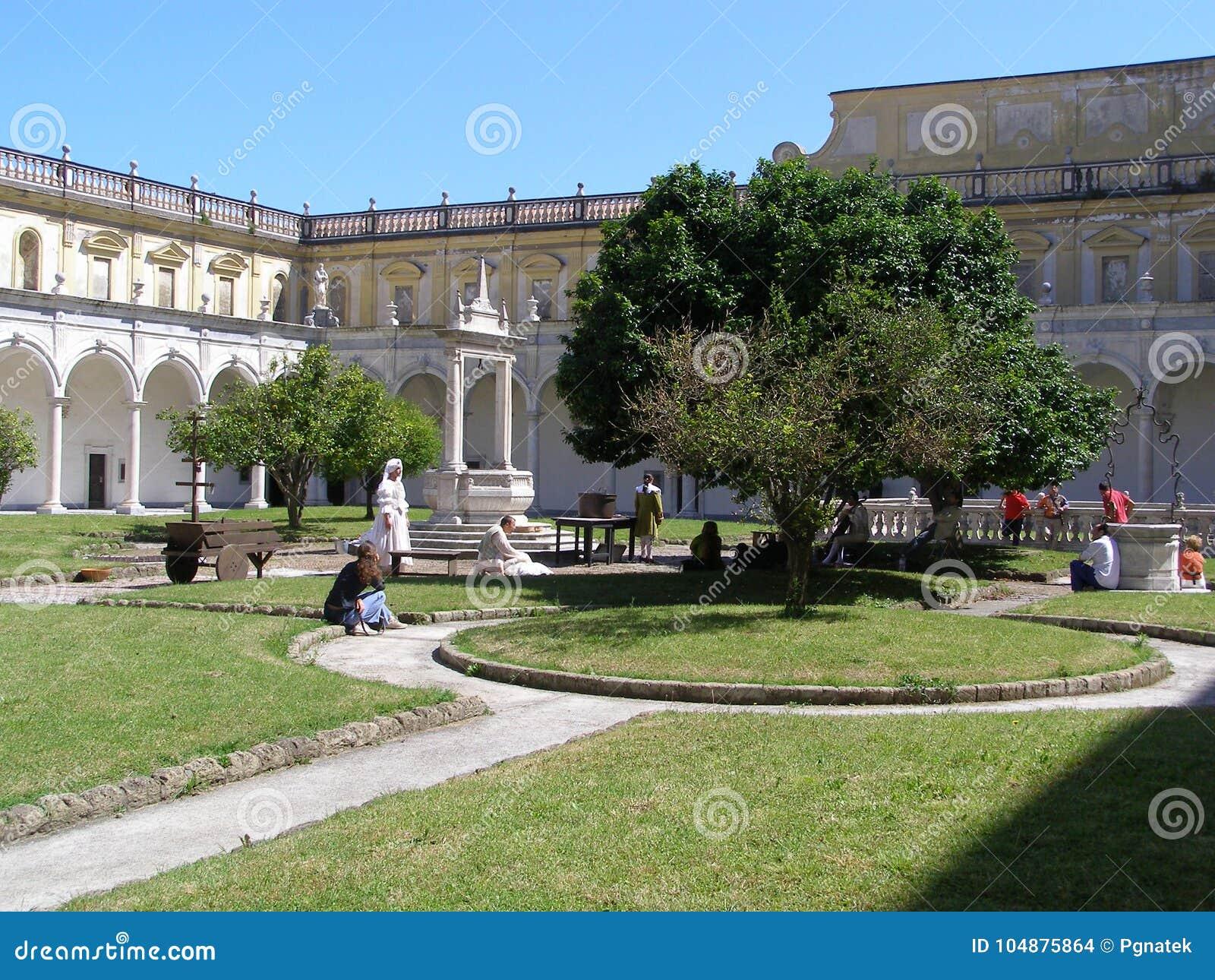 Itália Neapol Certosa di San Martino Cloister