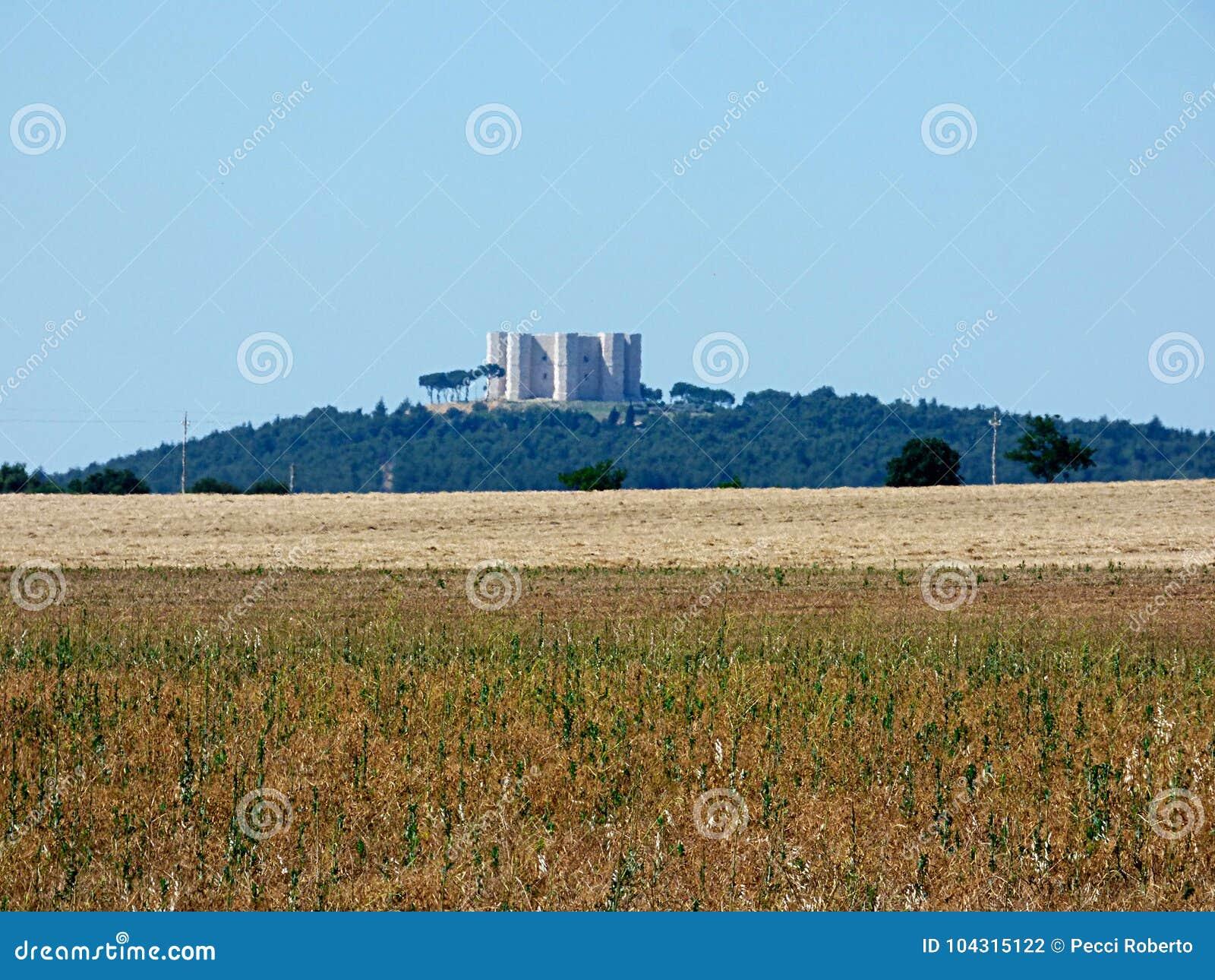 Itália Puglia, vista do campo do murge,