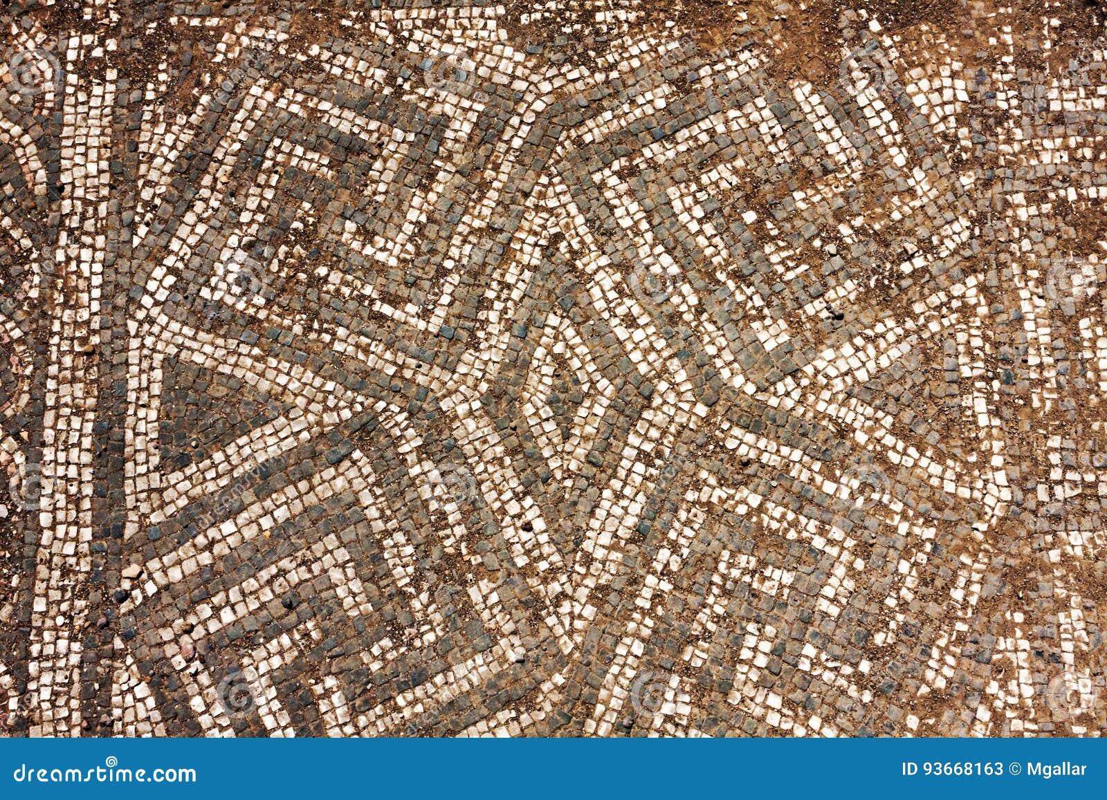 Ita ruiny imperium rzymskie mozaiki podłoga w Ostia Antica, Rzym -