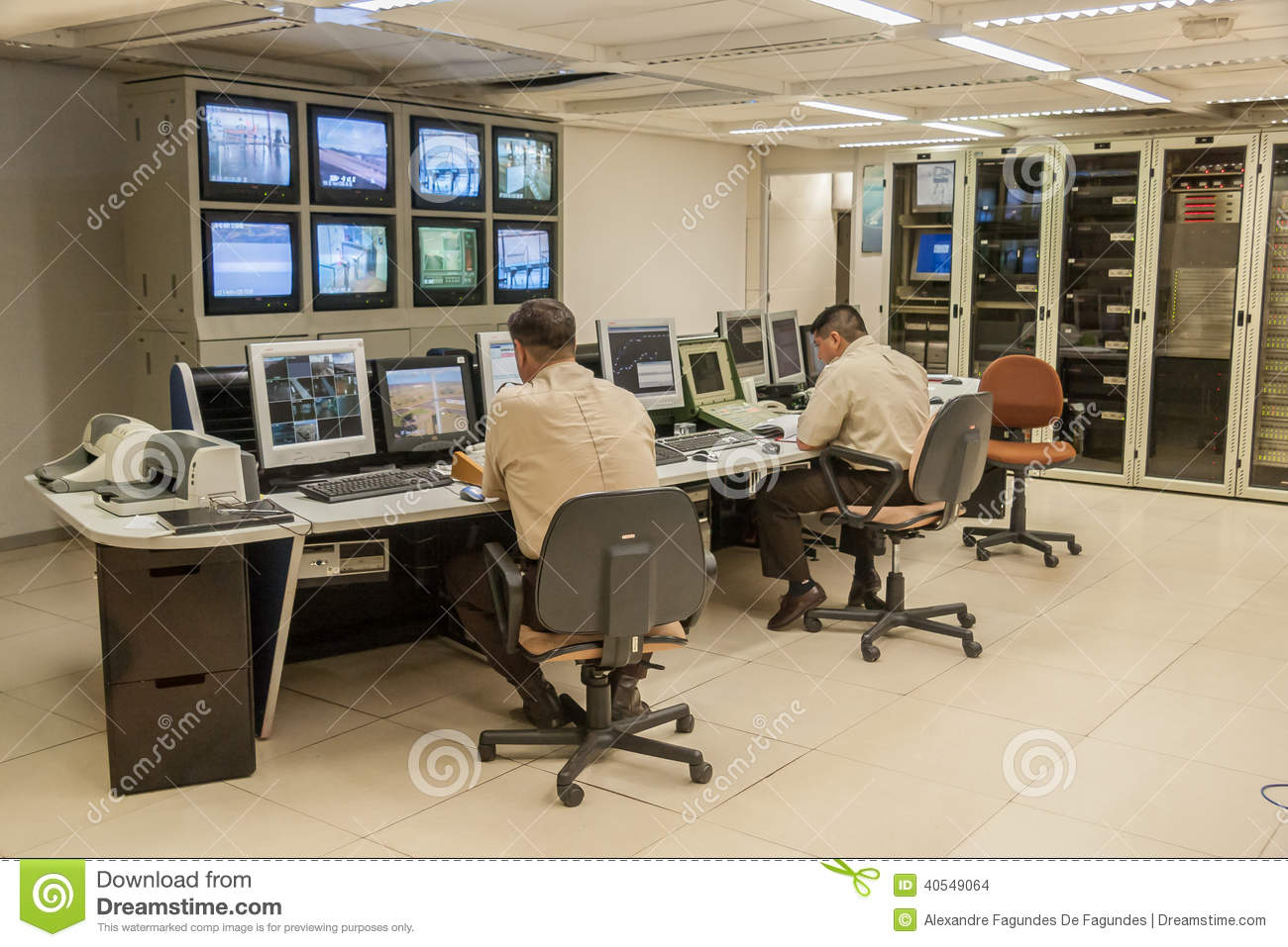 Itaipu Hydroelectric Power Plant Control Room Editorial