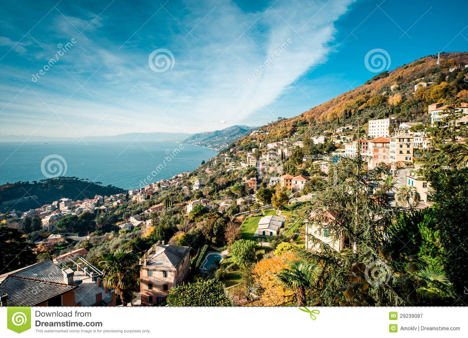 Download Italia imagem de stock. Imagem de edifício, riviera, montanha - 29239087