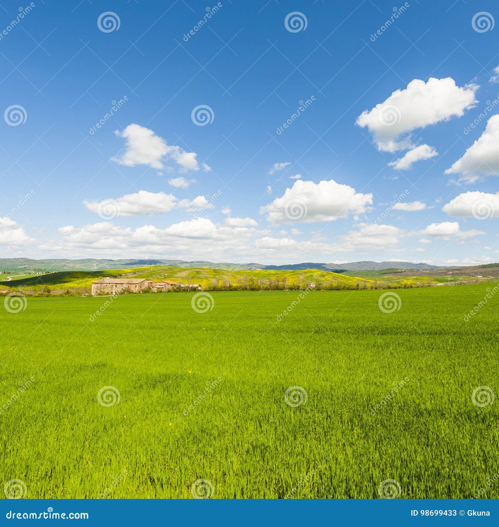 Italiaans landschap met weiden