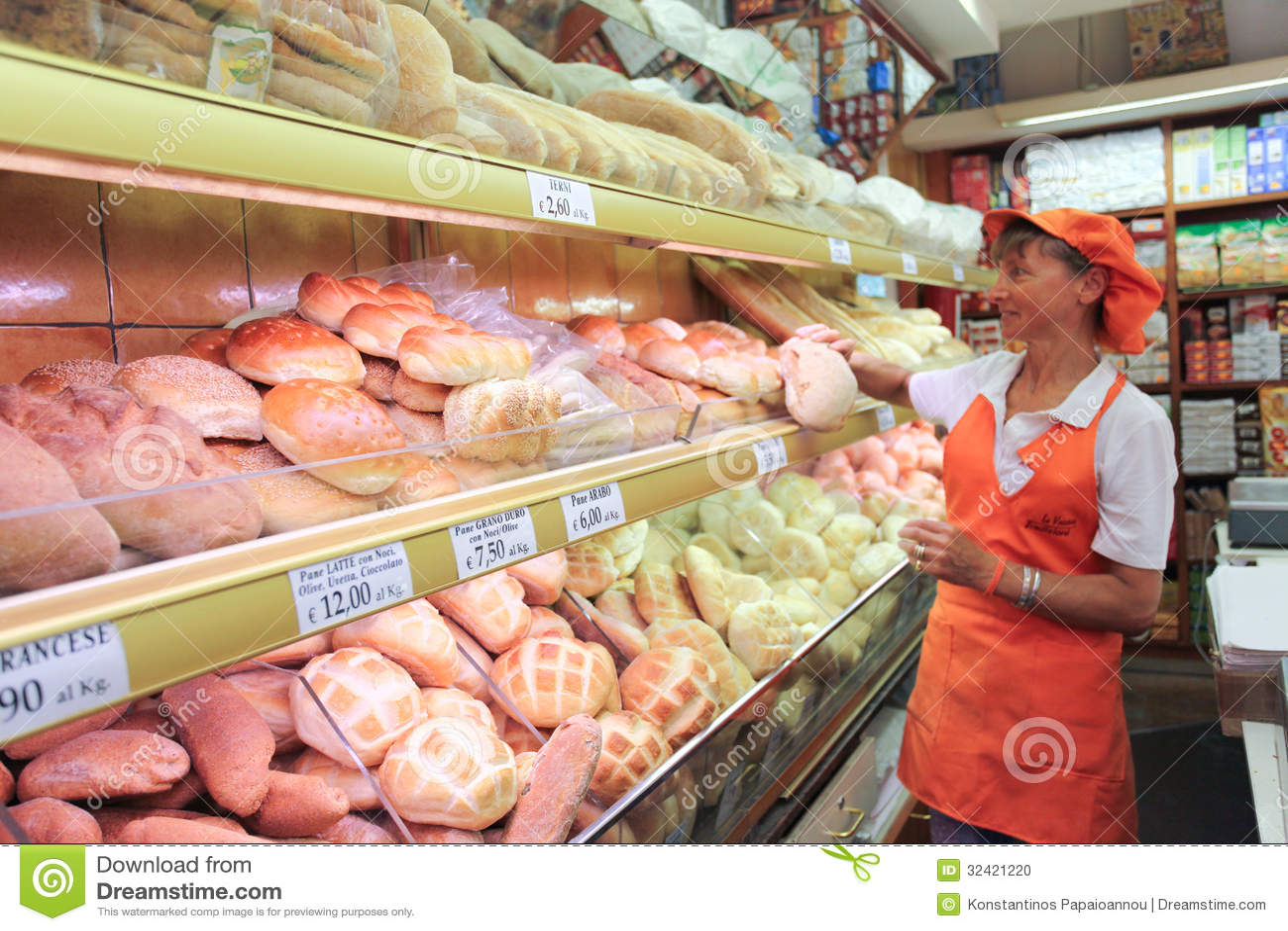 Italiaanse bakkerijwinkel