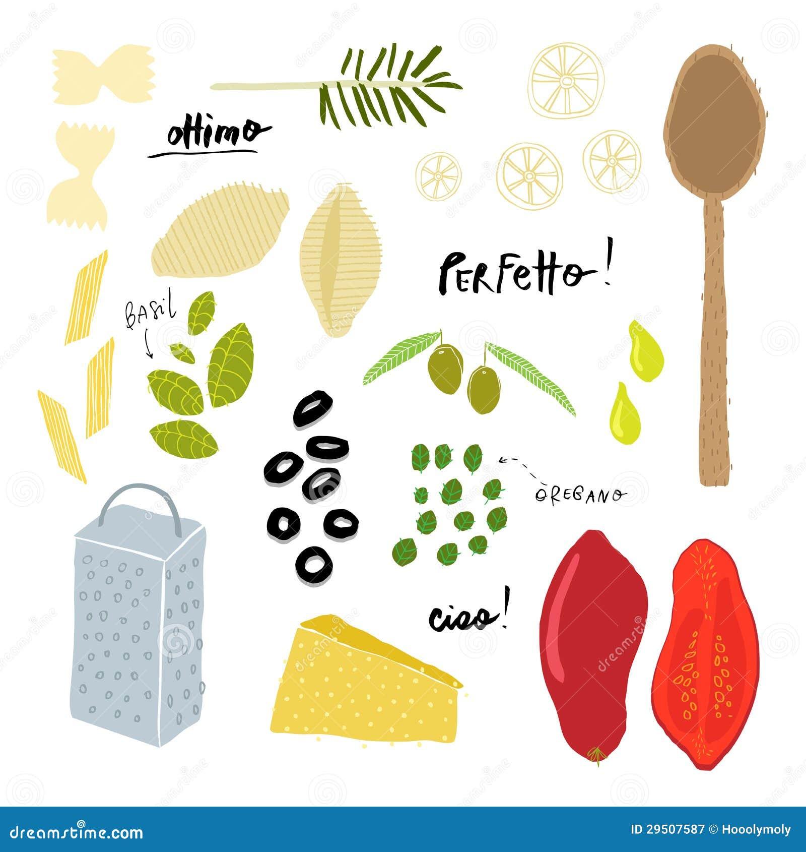 Italiaanse keukeningrediënten
