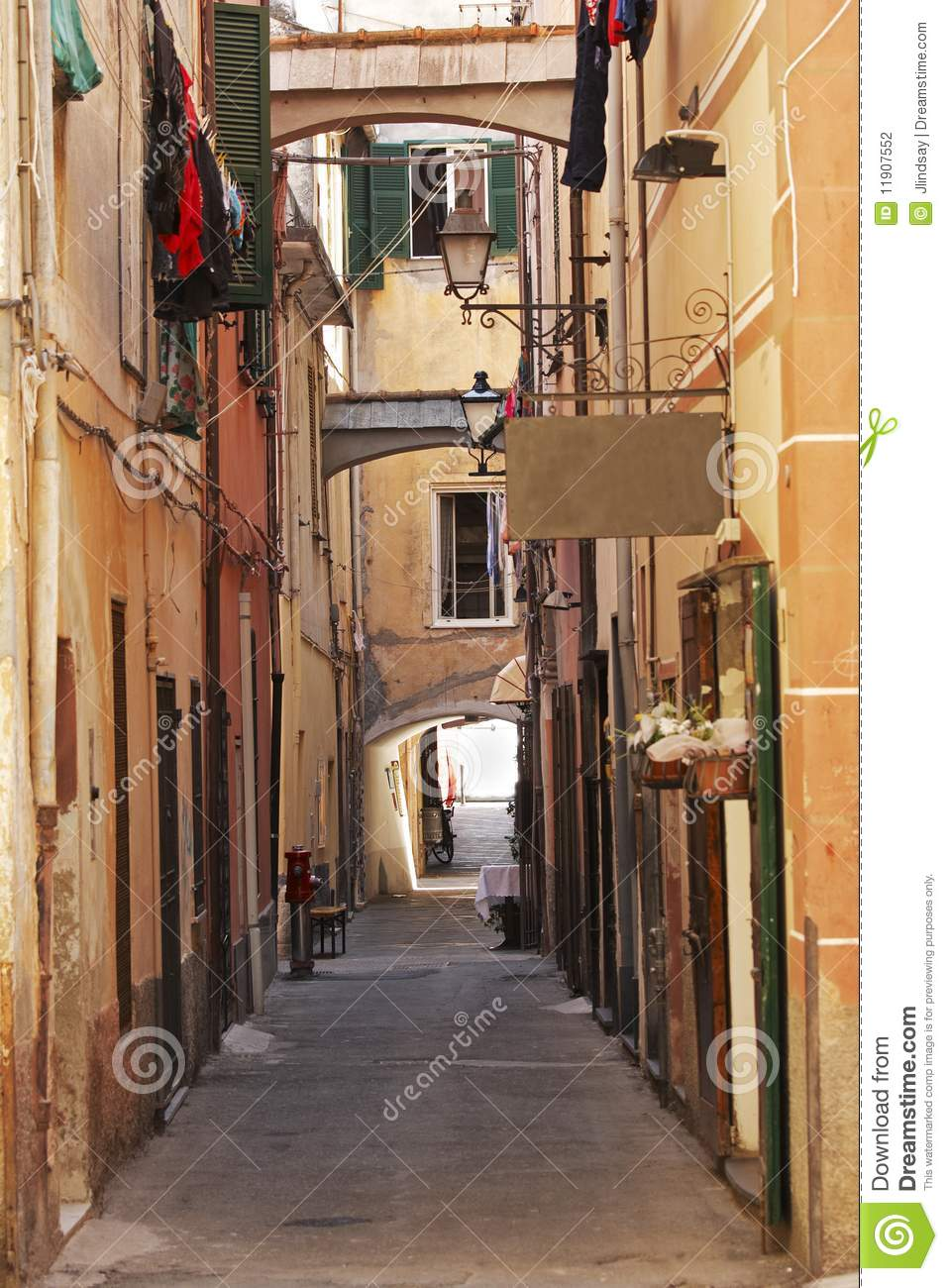 Italian Alley Stock Photo Image Of Scene Lamp Italy