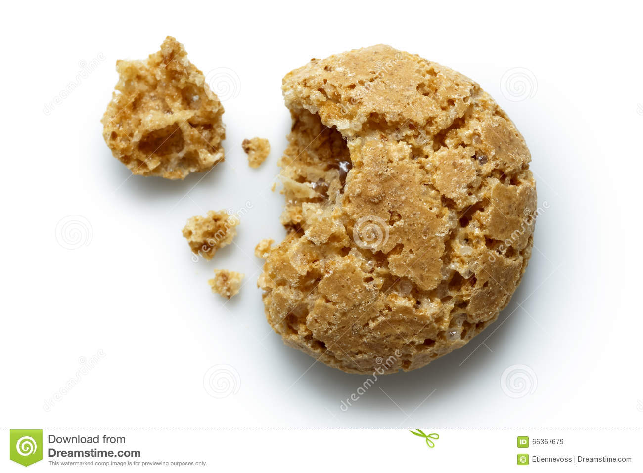 Italian Amaretti Biscuits Stock Image Image Of Biscuit 66367679