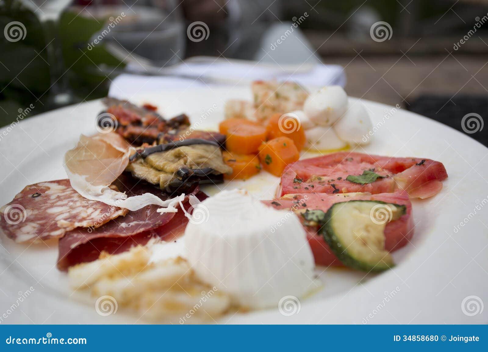 Italian anti pasti starter