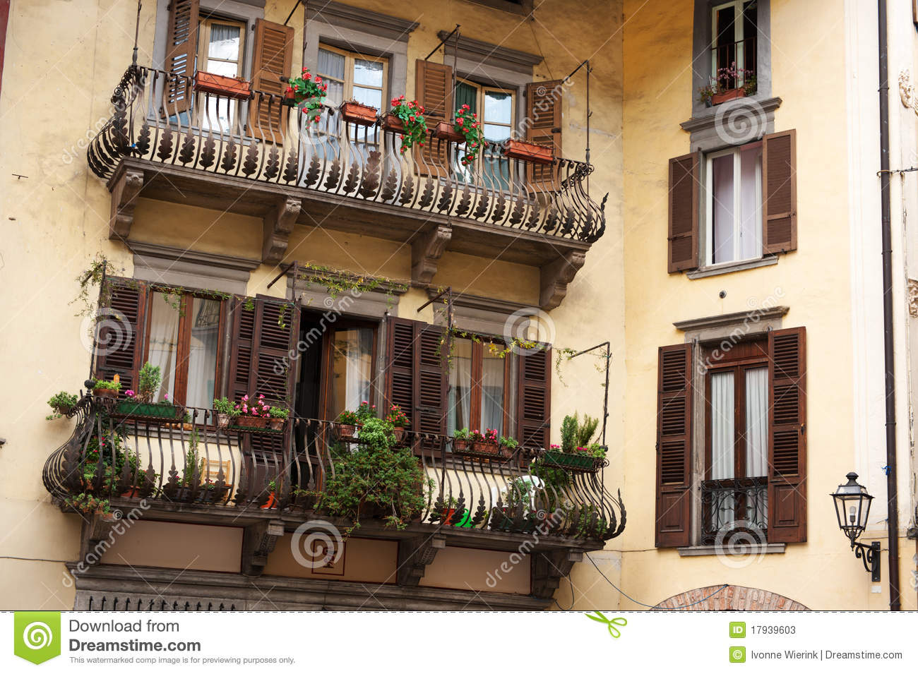 Italian balconies stock photos image 17939603 for Balcony in italian