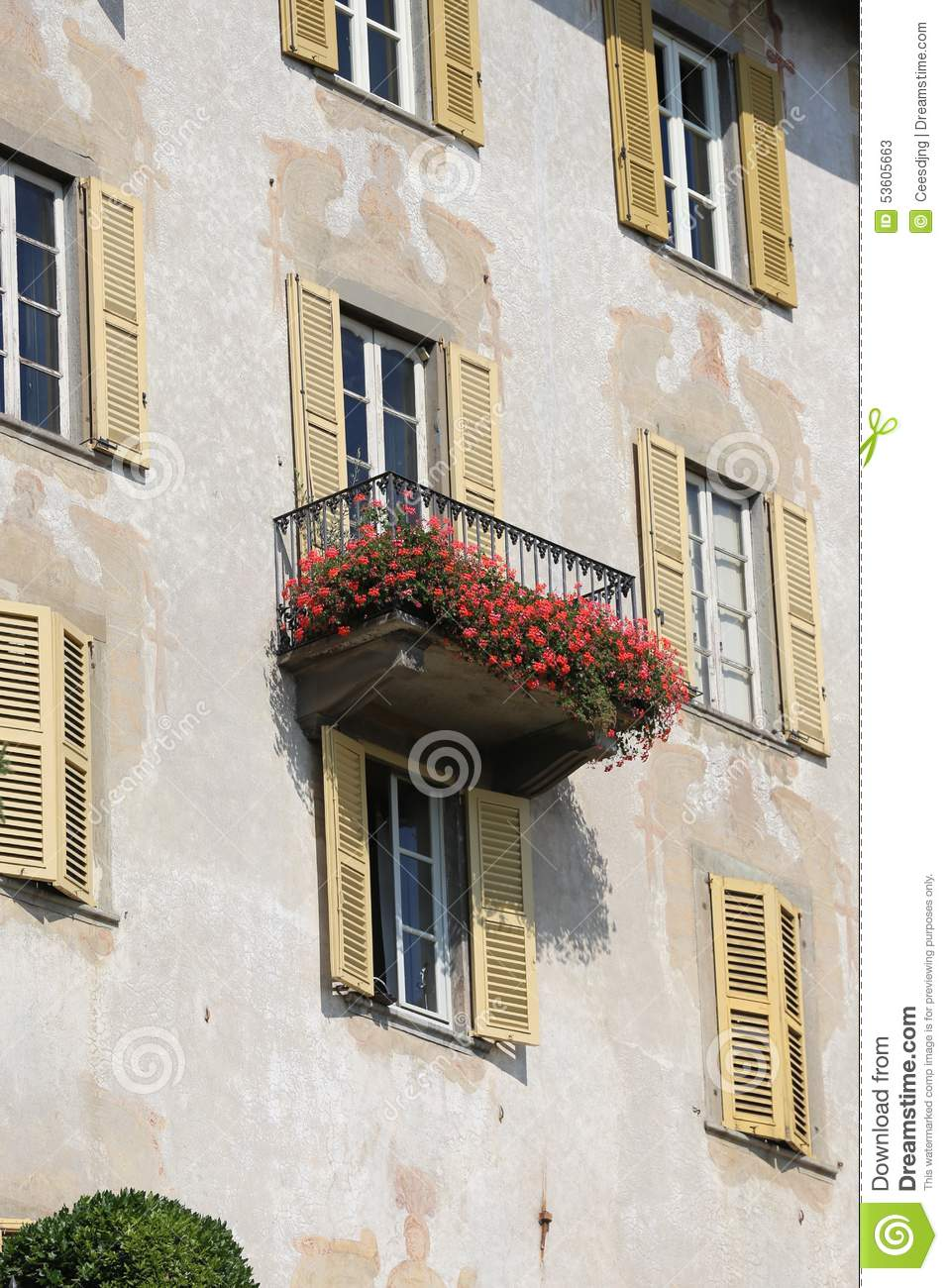 Italian balconies stock photo image 53605663 for Italian balcony