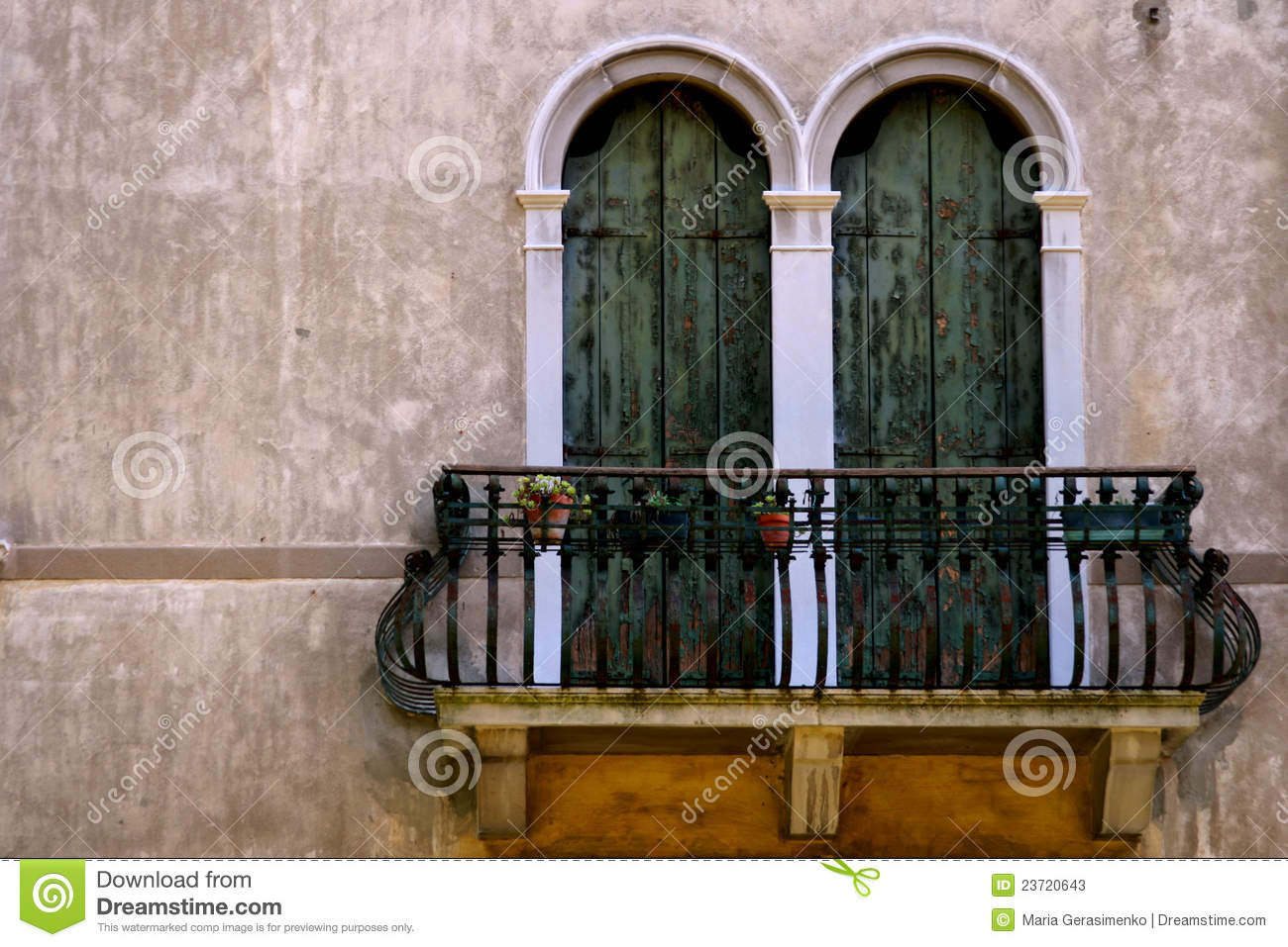 Italian Balcony Stock Image Image Of Awning Cement