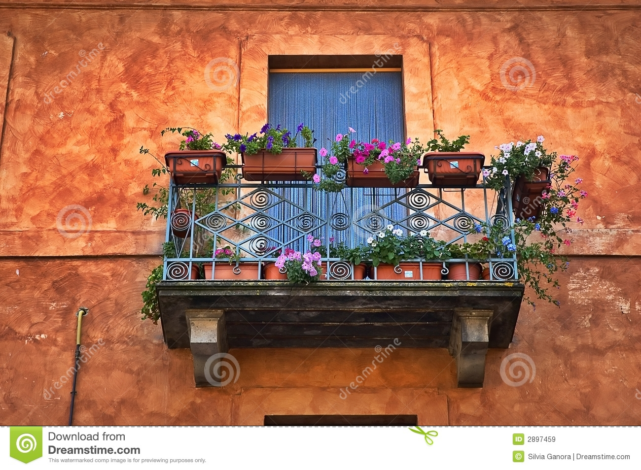 Italian balcony royalty free stock images image 2897459 for Italian balcony