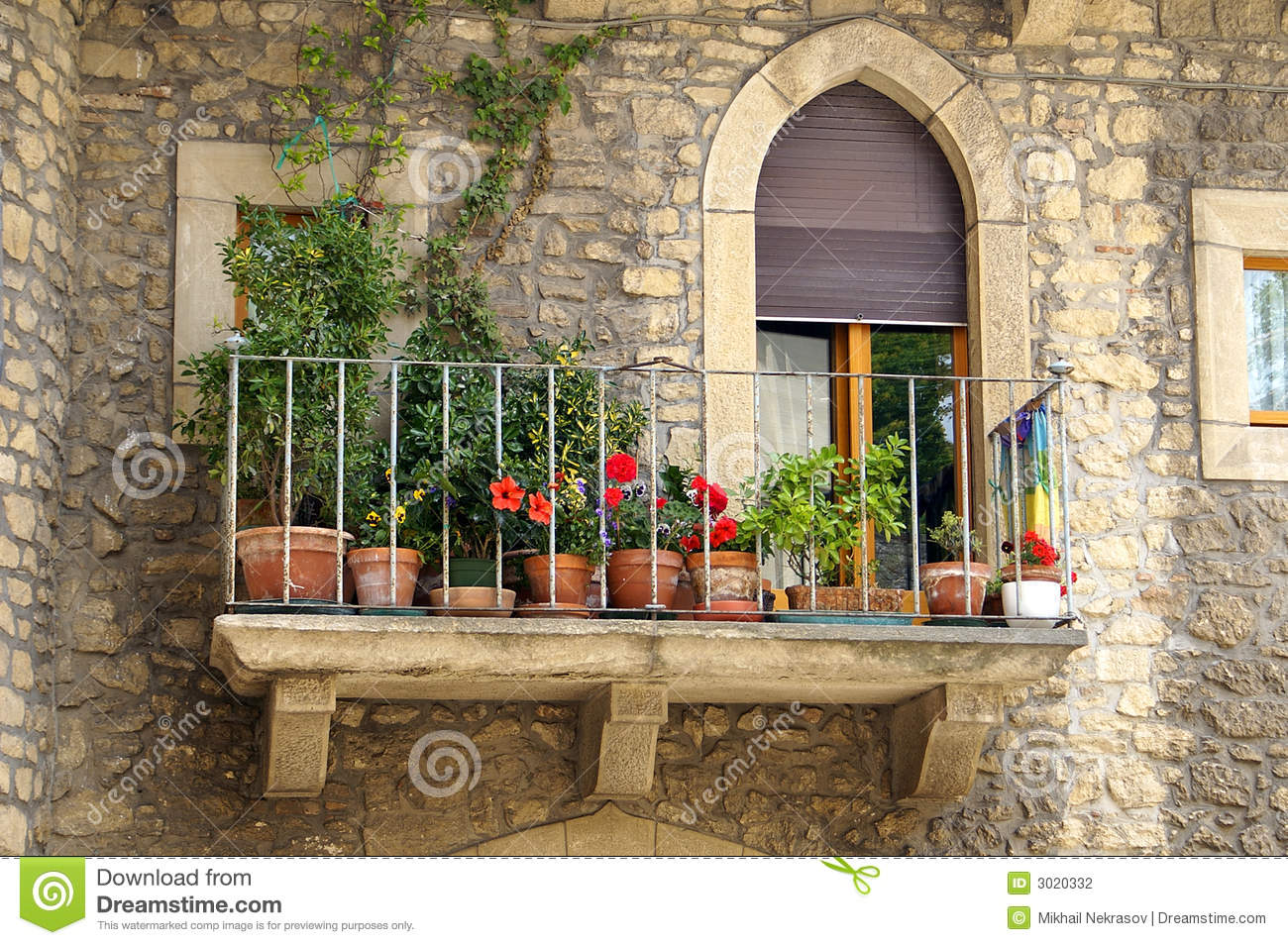 Italian balcony stock photo image of home apartment for Balcony in italian