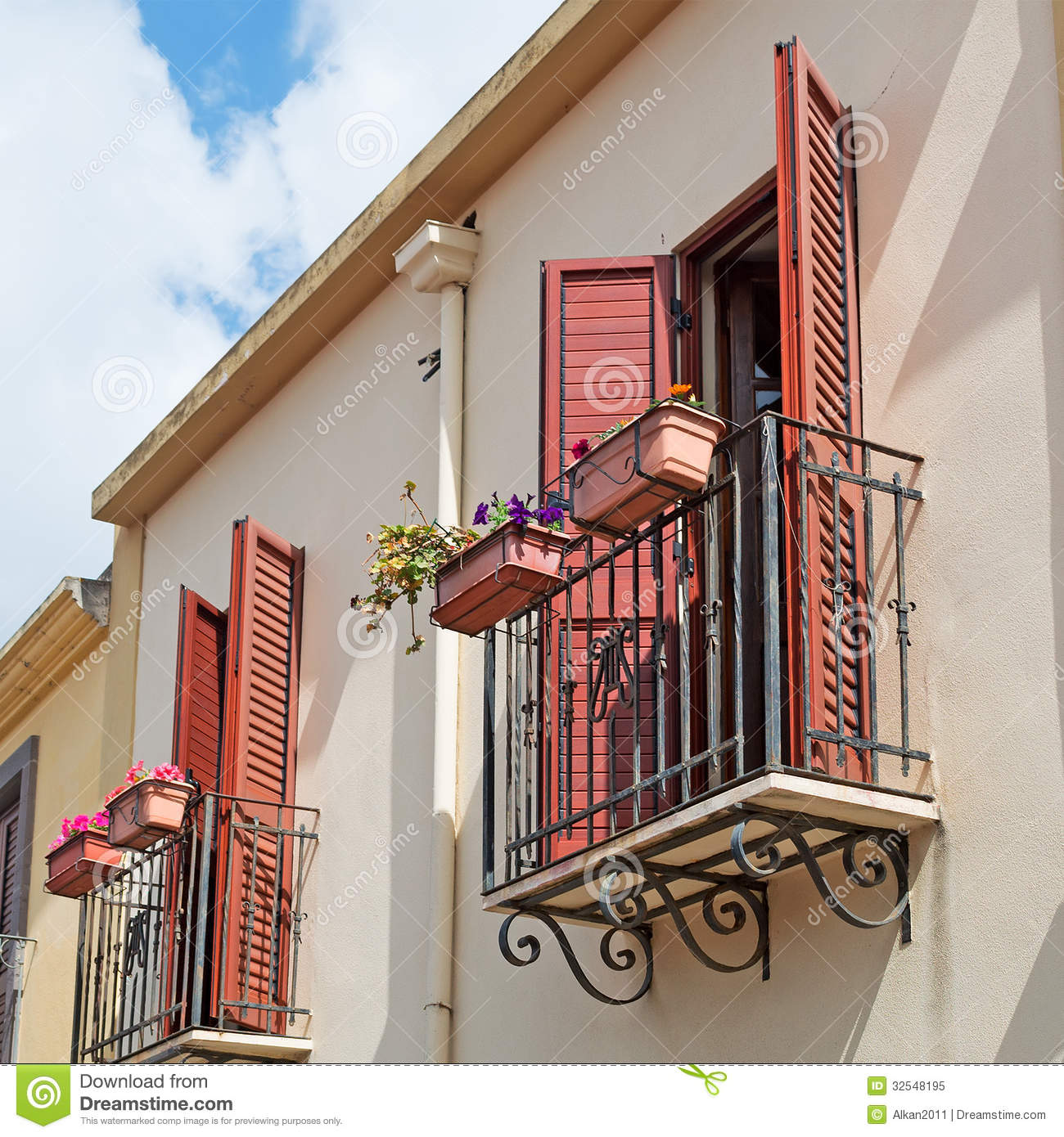 Italian balcony royalty free stock photo image 32548195 for Balcony in italian