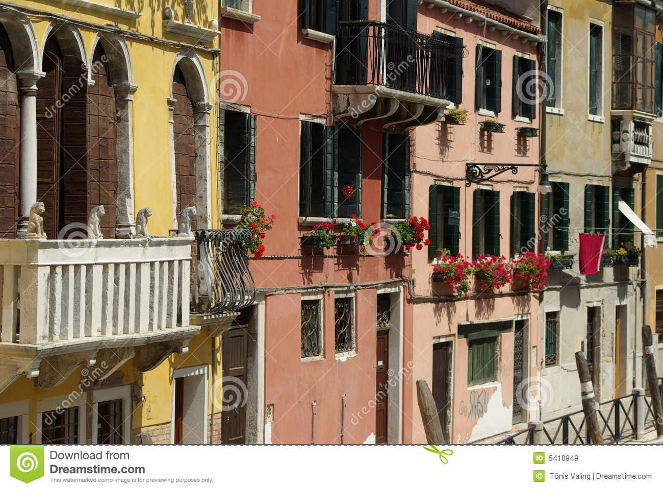 Italian balcony with flowers stock image image of for Italian balcony