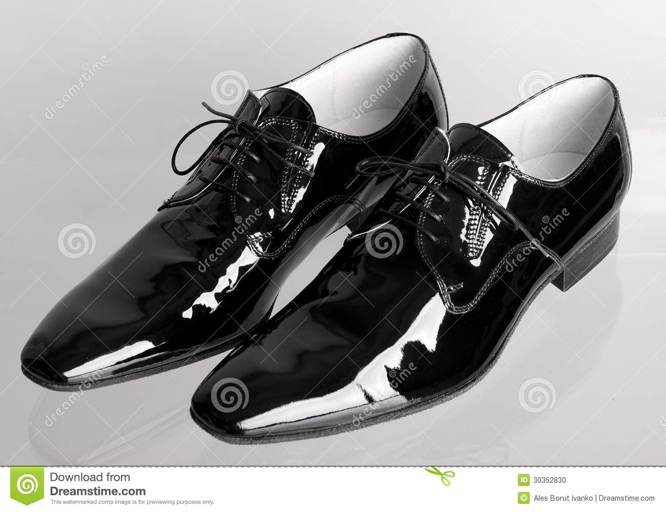 2f134f148 Italian Black Mans Dancing Shoes Stock Photo - Image of glass
