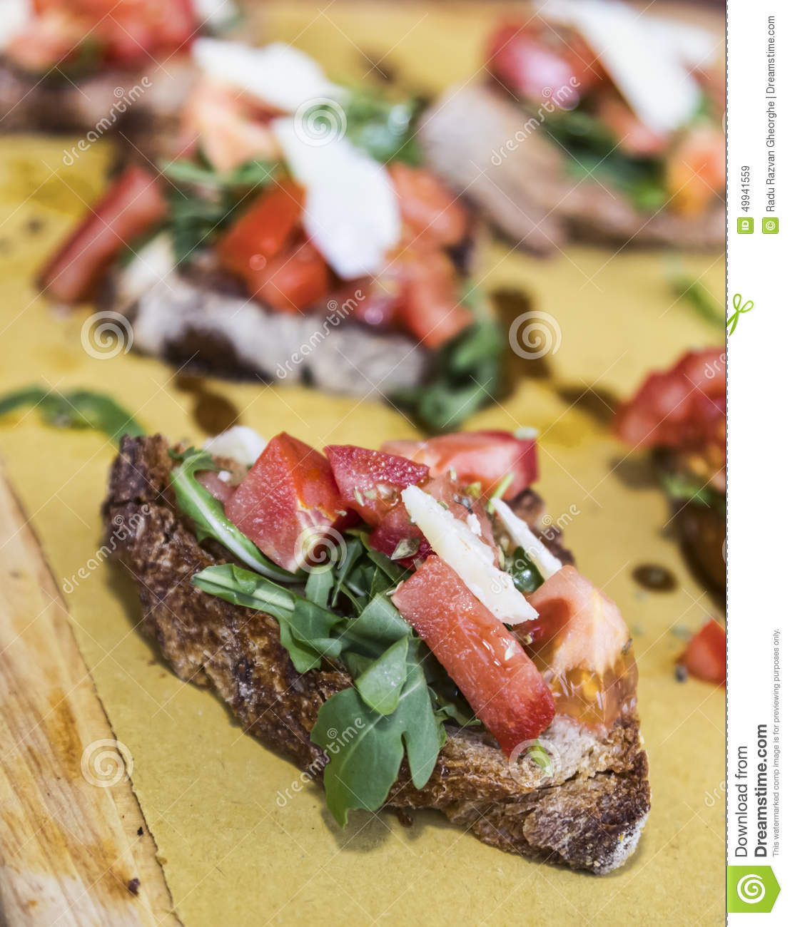 ... bruschetta with fresh tomatoes,mozzarella,garlic,basil and olive oil