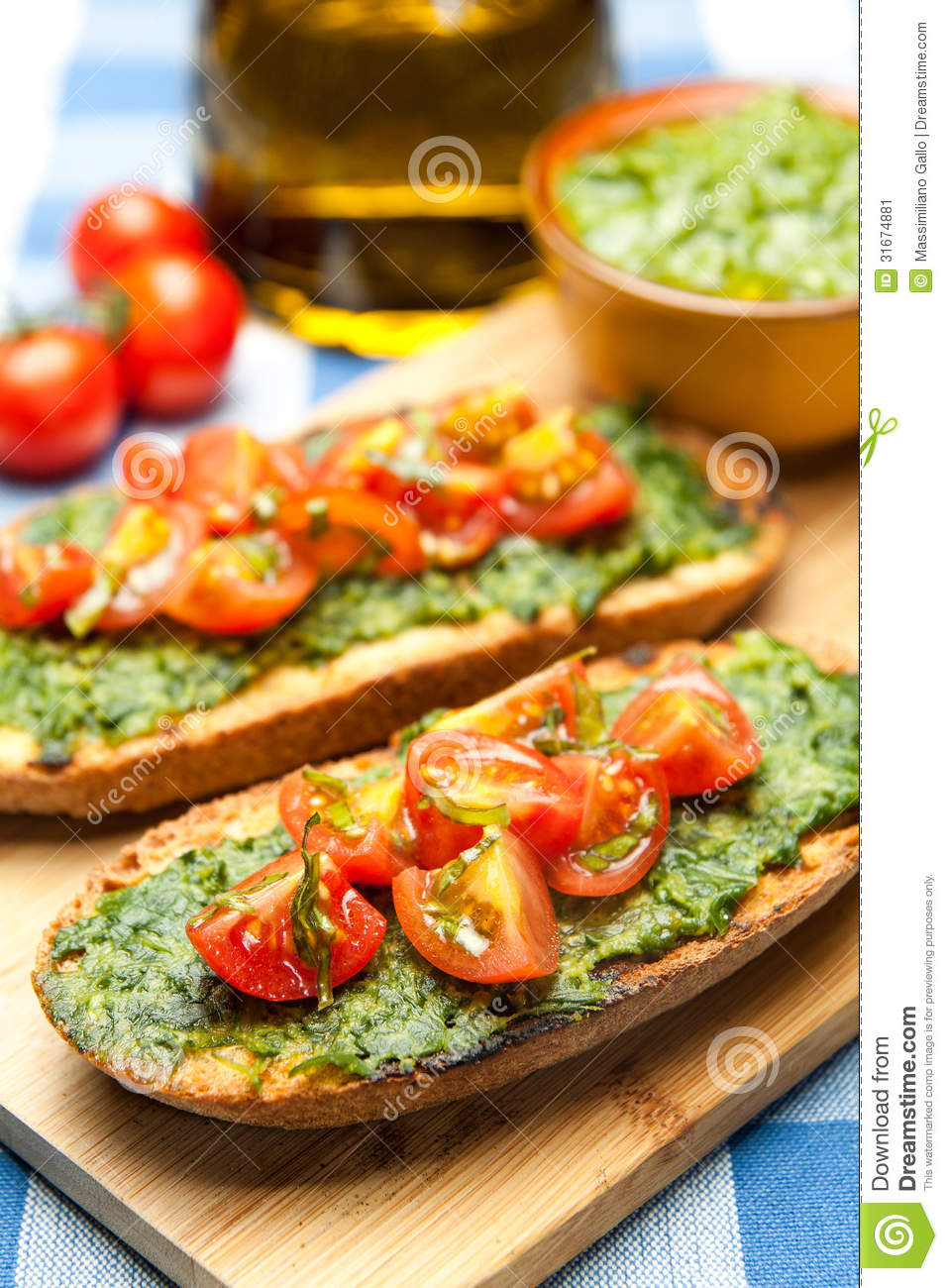 Italian bruschetta stock image image 31674881 for Authentic mediterranean cuisine