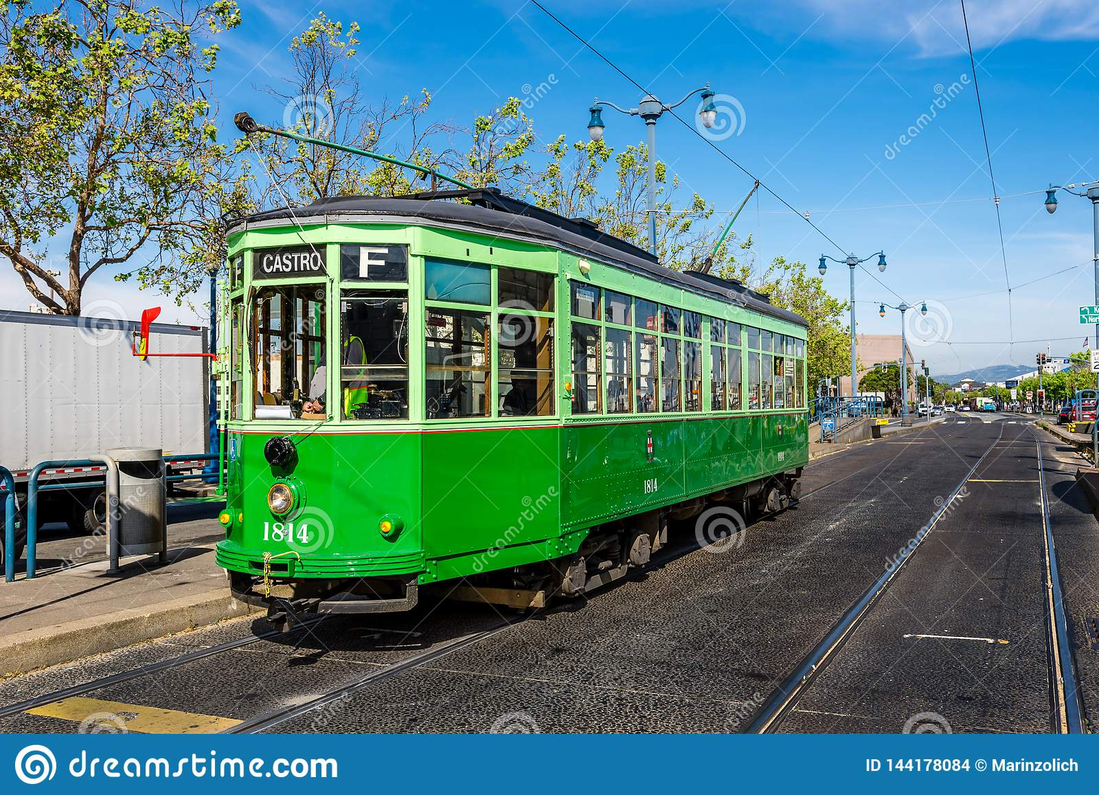 An Italian Cable Car In San Francisco Editorial Stock ...