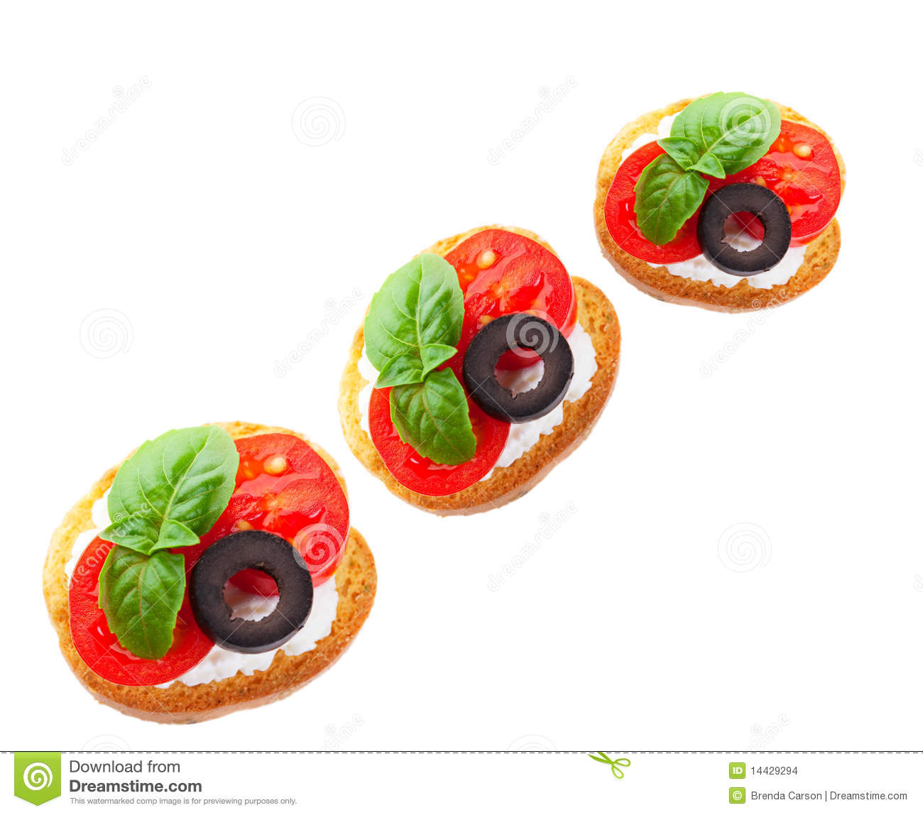 Italian canape stock images image 14429294 for Canape garnishes