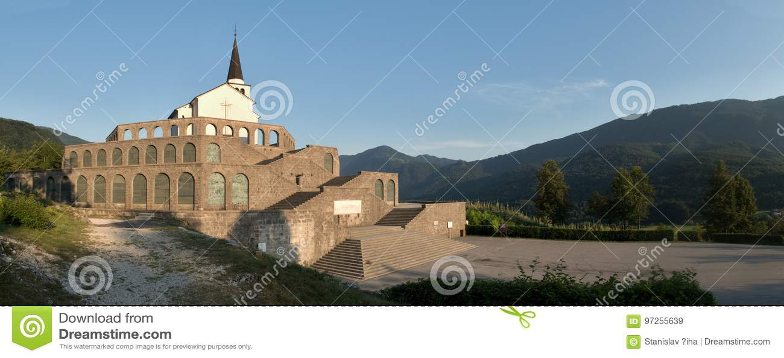Italian charnel-house form the World War I above Kobarid in Julian Alps in Slovenia